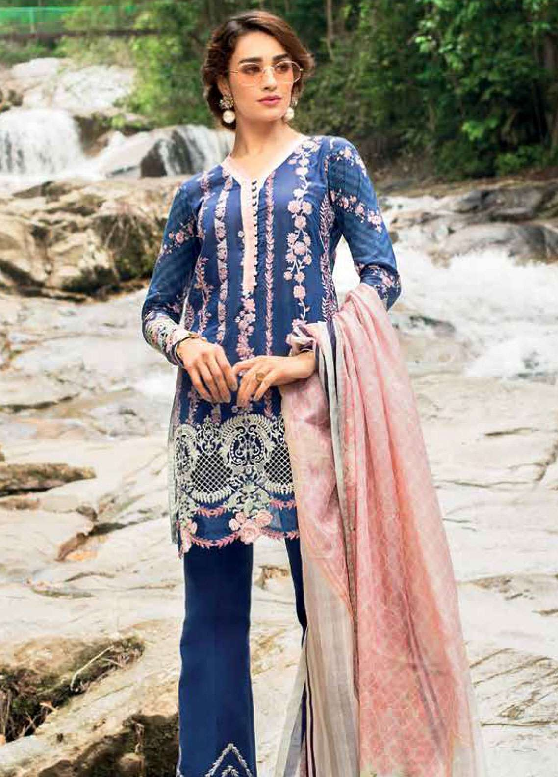 Zainab Chottani Embroidered Lawn Unstitched 3 Piece Suit ZC19L 4B ENCHANTED ROSE - Spring / Summer Collection