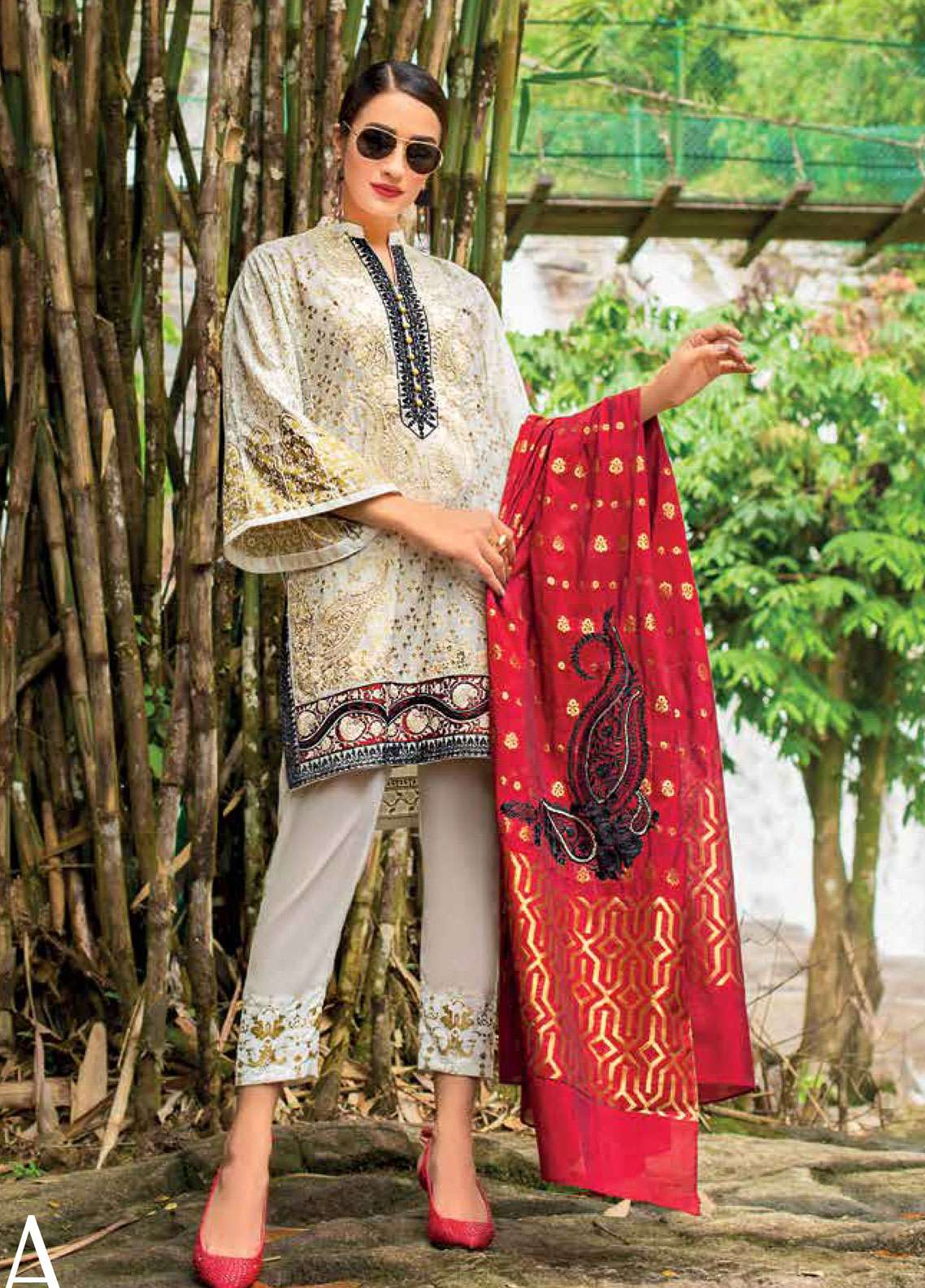 Zainab Chottani Embroidered Lawn Unstitched 3 Piece Suit ZC19L 9A MARIGOLD JARDIN - Spring / Summer Collection