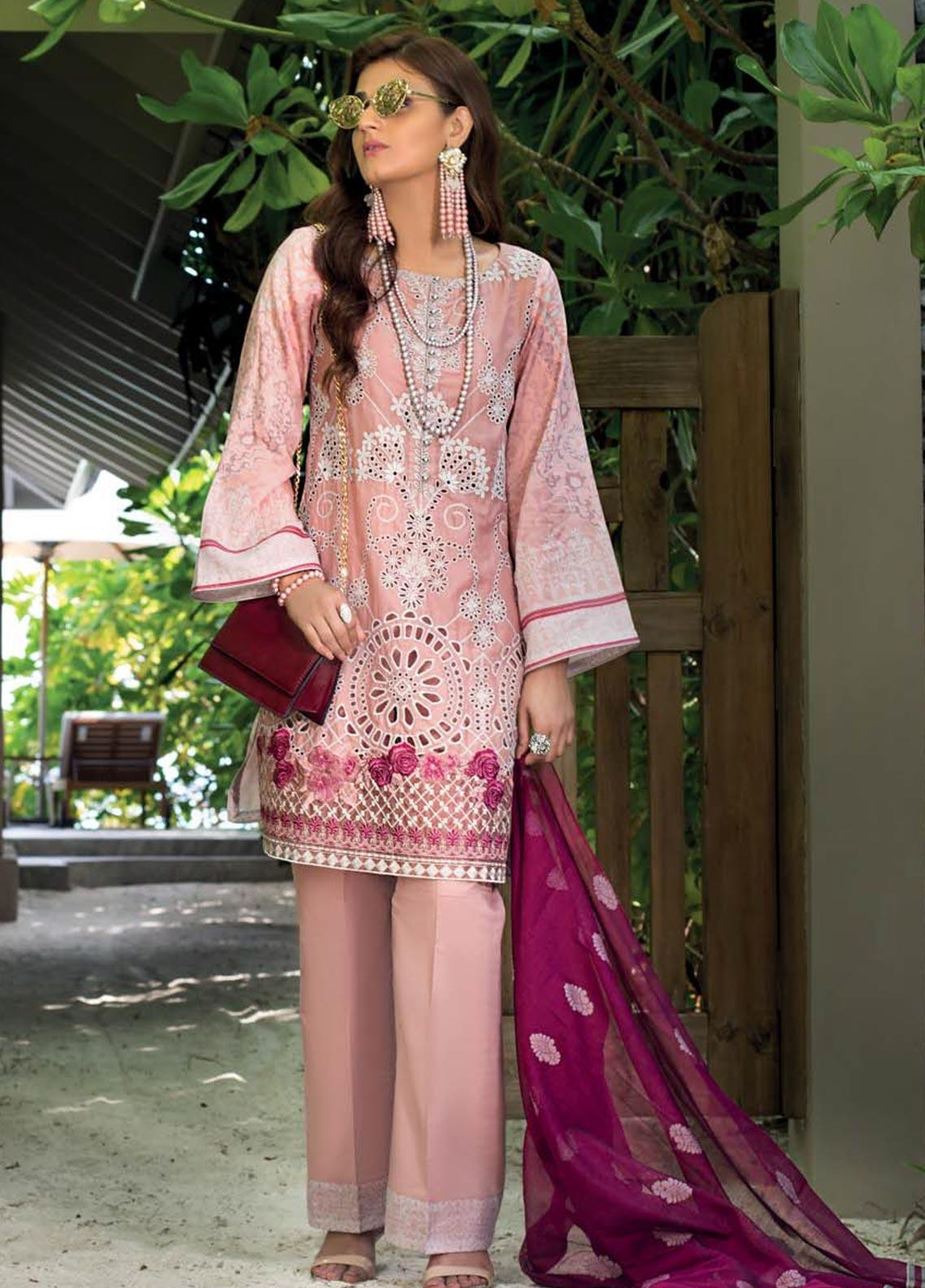 Zainab Chottani Embroidered Chikankari Unstitched 3 Piece Suit ZC20LL 8A - Luxury Collection