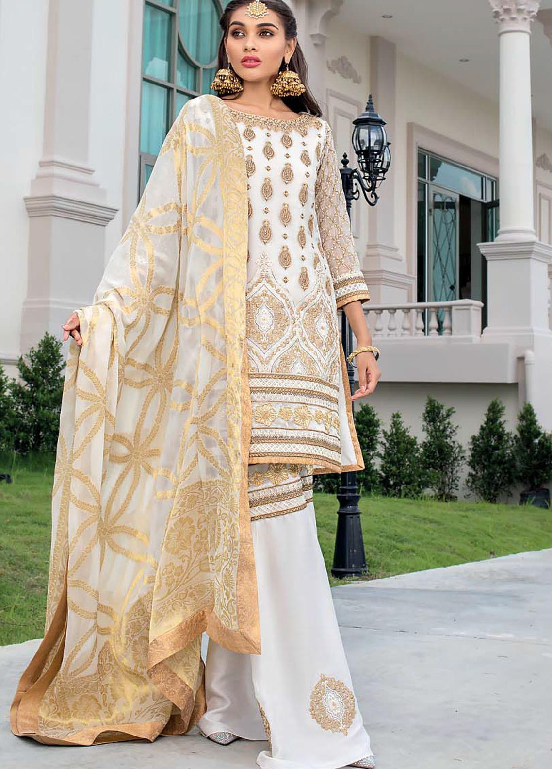 Zainab Chottani Embroidered Chiffon Unstitched 3 Piece Suit ZC20WF 03 Tabeer - Wedding Collection