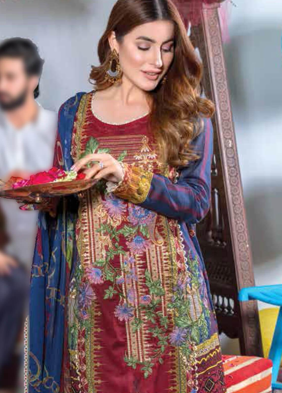 Zara Ali by Magns Textiles Embroidered Lawn Unstitched 3 Piece Suit ZRA19F 4B - Festive Collection