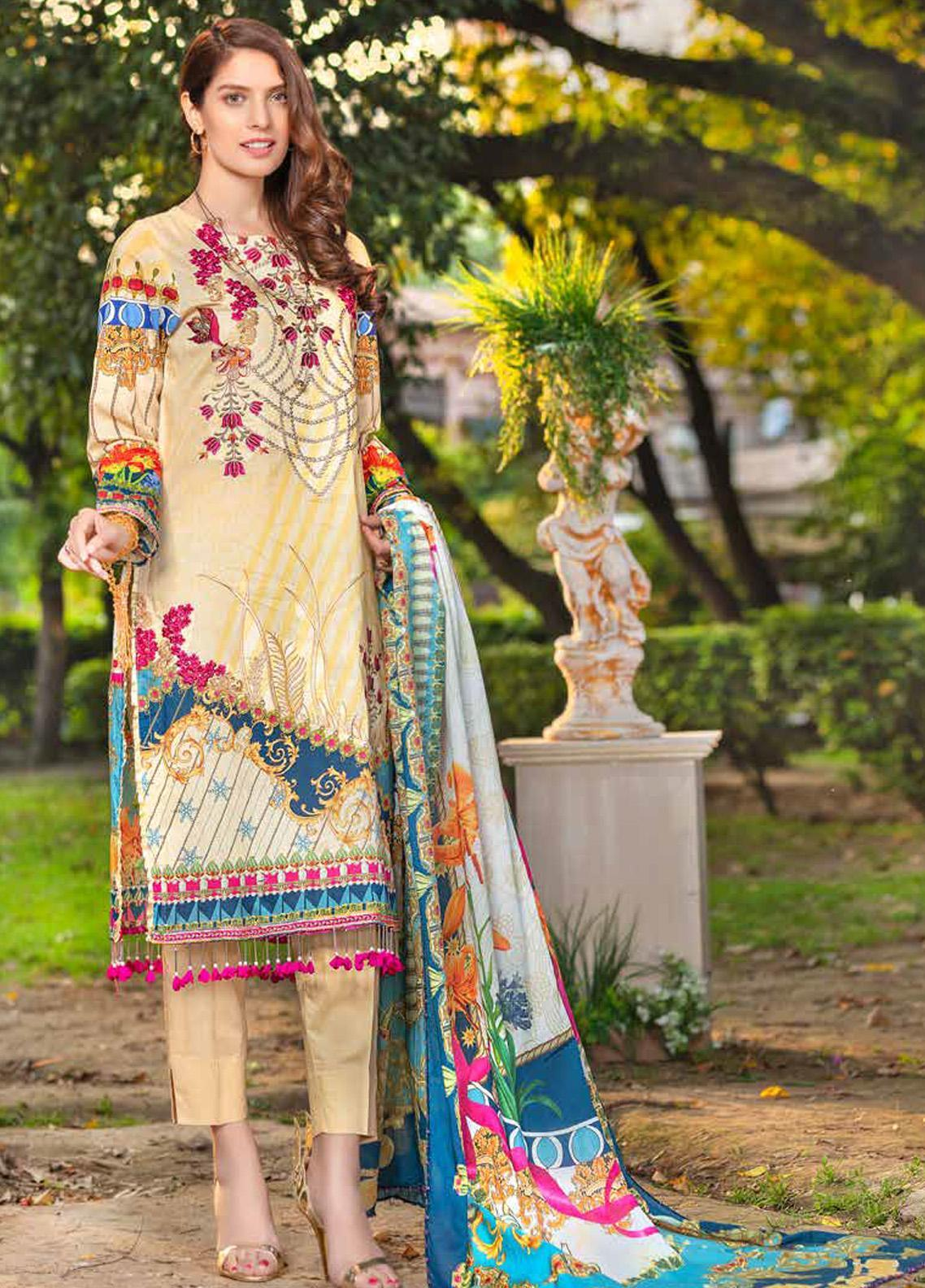 Zara Ali by Magns Textiles Embroidered Lawn Unstitched 3 Piece Suit ZRA20F 10 - Summer Collection
