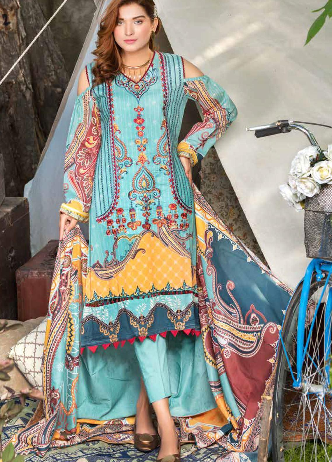Zara Ali by Magns Textiles Embroidered Lawn Unstitched 3 Piece Suit ZRA20F 11 - Summer Collection