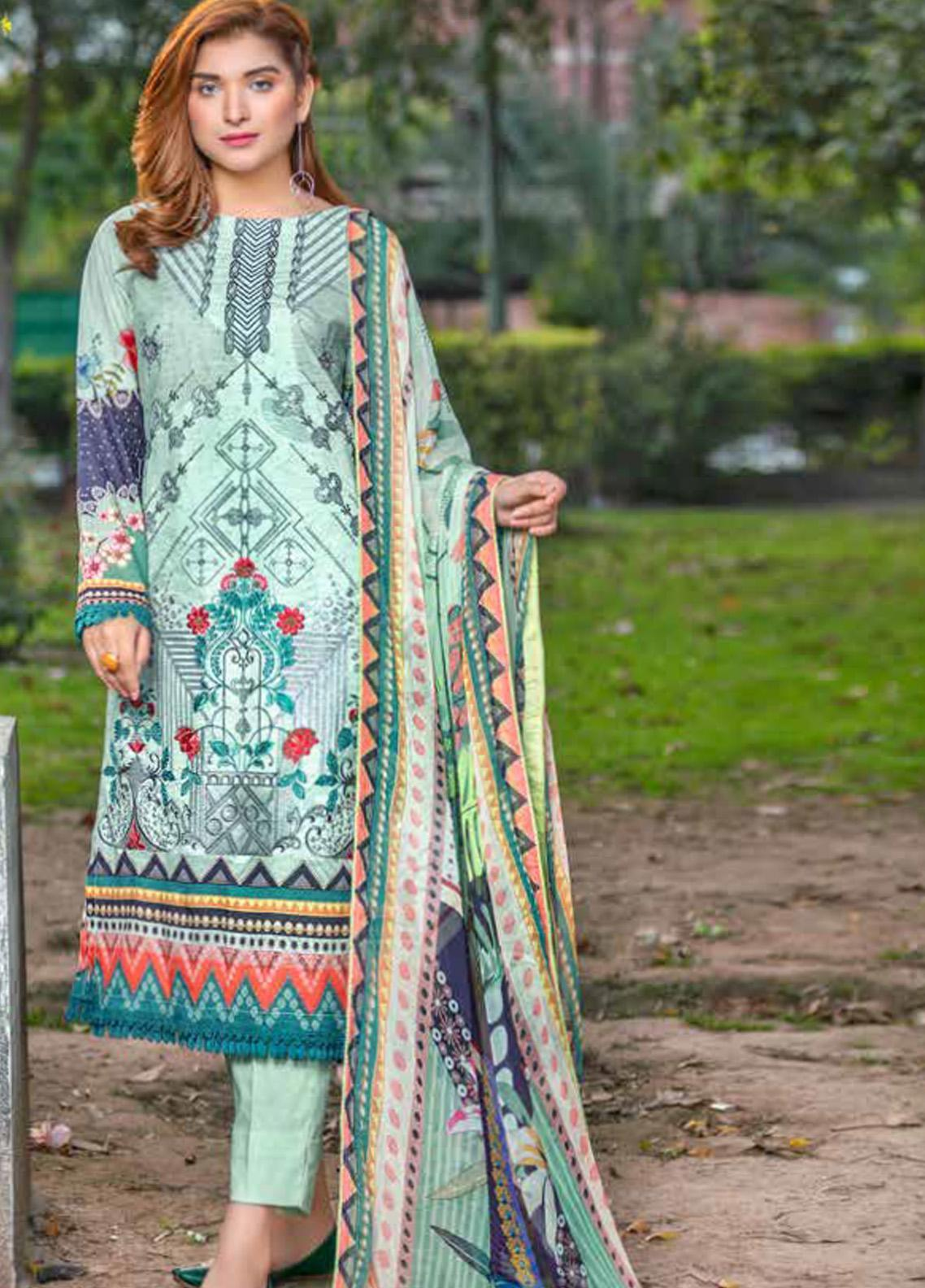 Zara Ali by Magns Textiles Embroidered Lawn Unstitched 3 Piece Suit ZRA20F 1B - Summer Collection