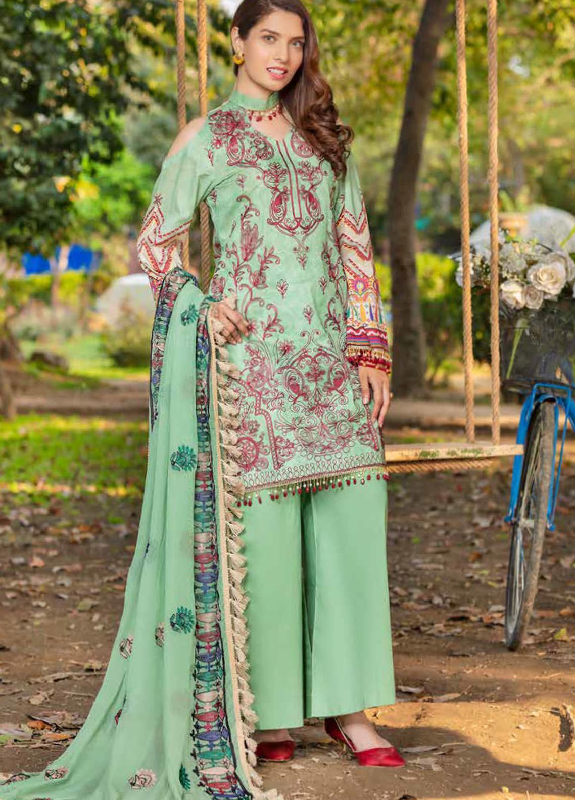 Zara Ali by Magns Textiles Embroidered Lawn Unstitched 3 Piece Suit ZRA20F 4B - Summer Collection