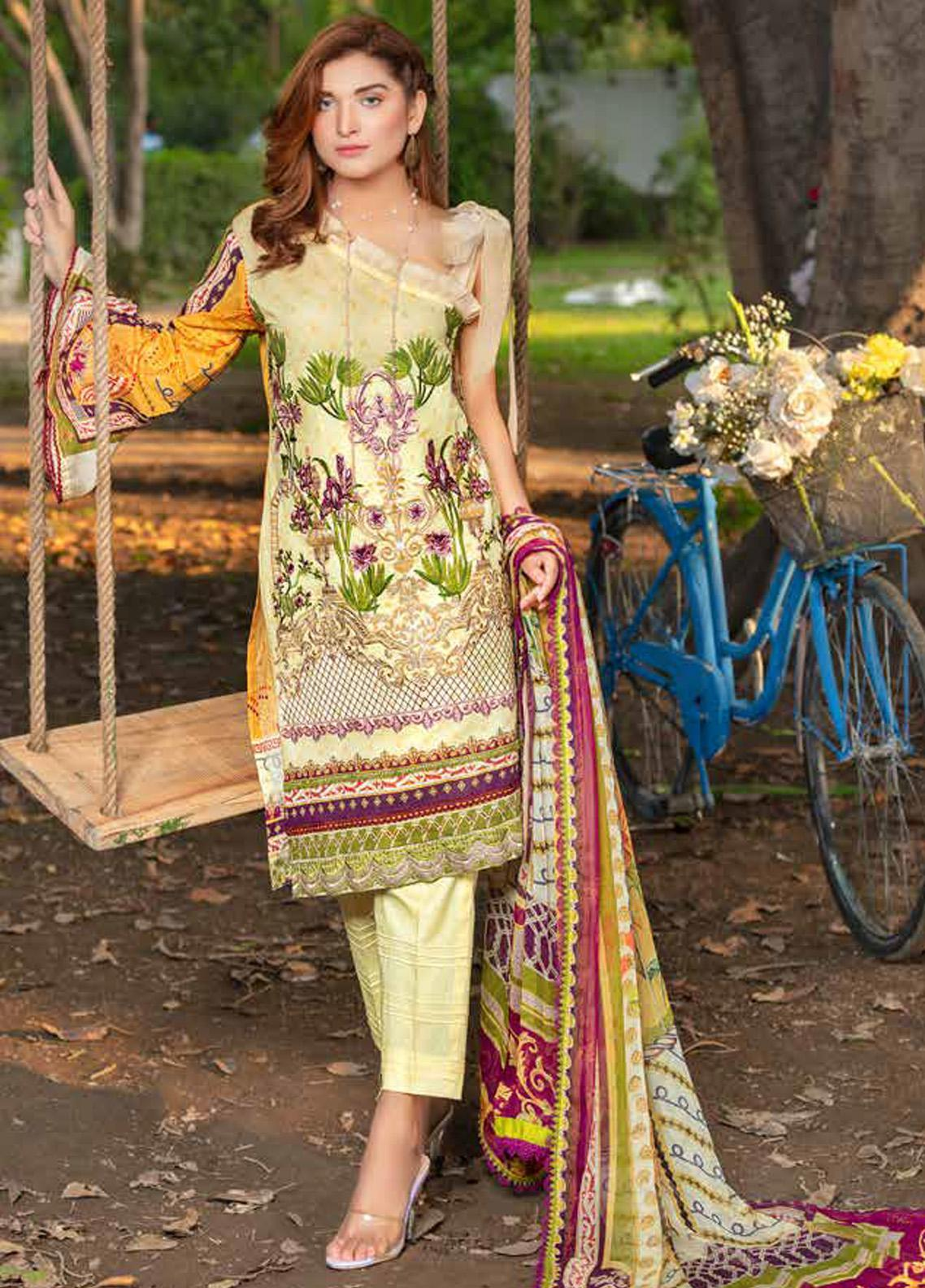 Zara Ali by Magns Textiles Embroidered Lawn Unstitched 3 Piece Suit ZRA20F 6A - Summer Collection