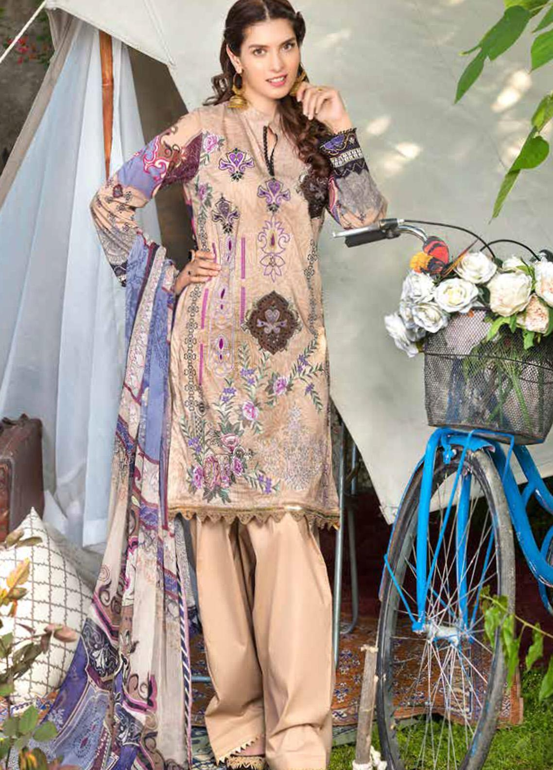 Zara Ali by Magns Textiles Embroidered Lawn Unstitched 3 Piece Suit ZRA20F 7B - Summer Collection