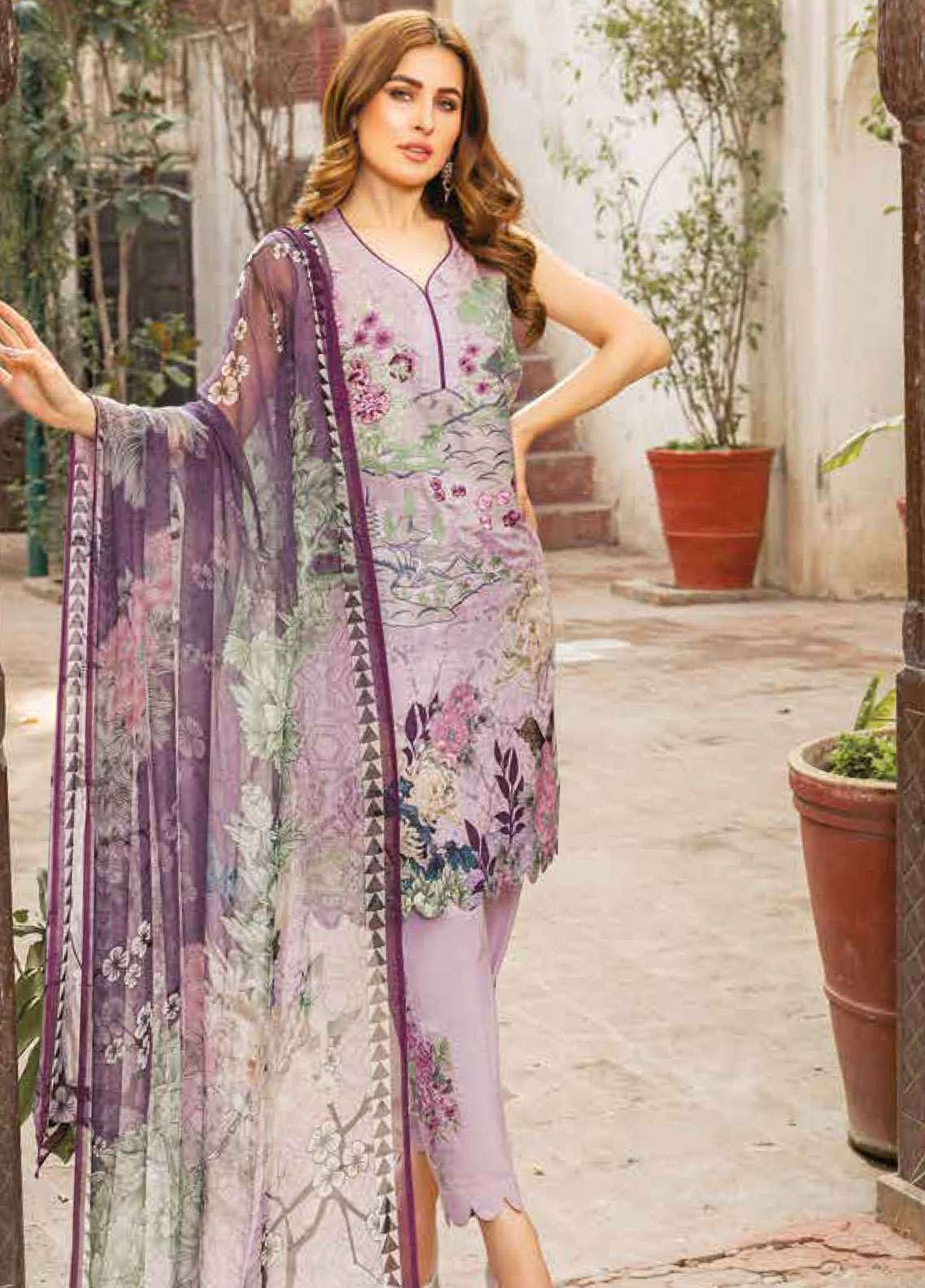 826bd21653 Zara Ali by Magns Textiles Embroidered Jacquard Unstitched 3 Piece Suit  ZRA19L 02B - Spring / Summer Collection