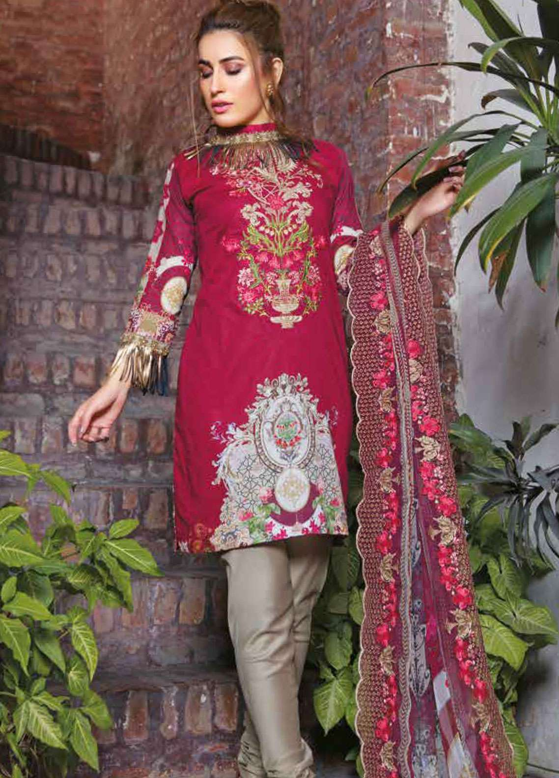 Zara Ali by Magns Textiles Embroidered Lawn Unstitched 3 Piece Suit ZRA19L 09B - Spring / Summer Collection