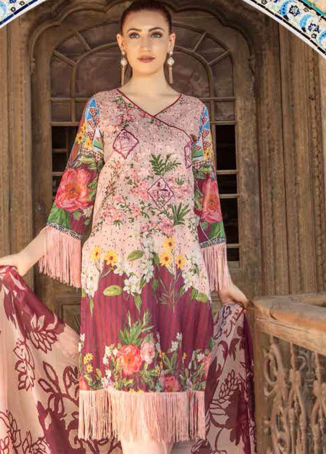 Zara Ali by Magns Textiles Embroidered Lawn Unstitched 3 Piece Suit ZRA19SL 5B - Spring / Summer Collection