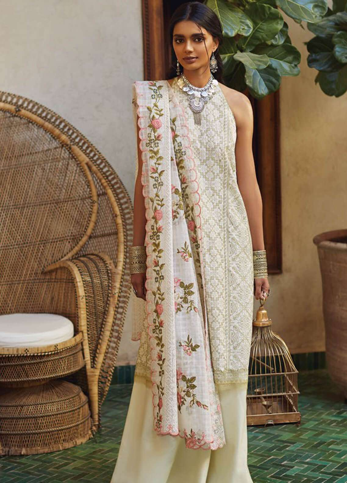 Zara Shahjahan Embroidered Lawn Unstitched 3 Piece Suit ZSJ19L FIZA A - Spring / Summer Collection