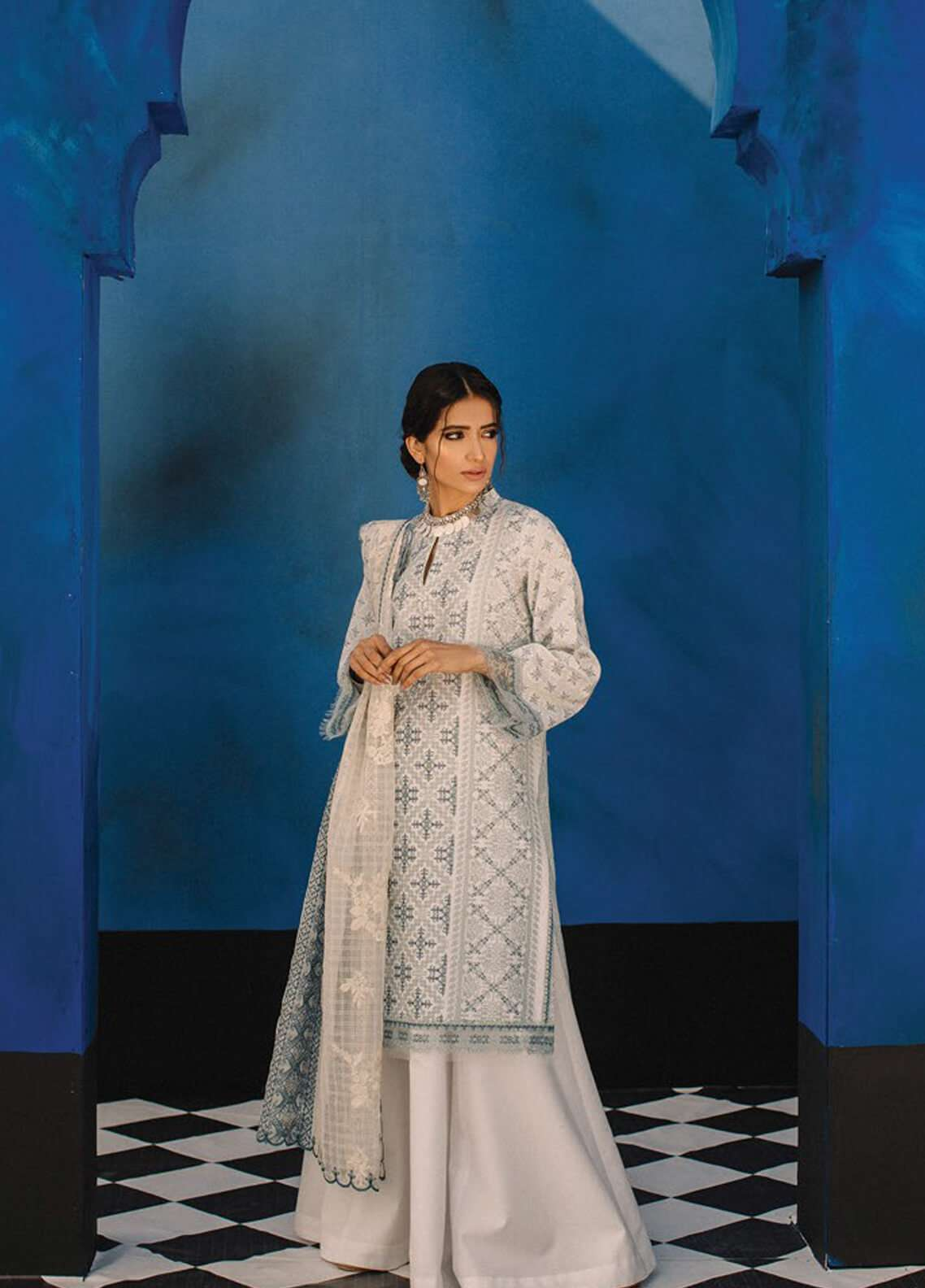 Zara Shahjahan Embroidered Lawn Unstitched 3 Piece Suit ZSJ19L FIZA B - Spring / Summer Collection