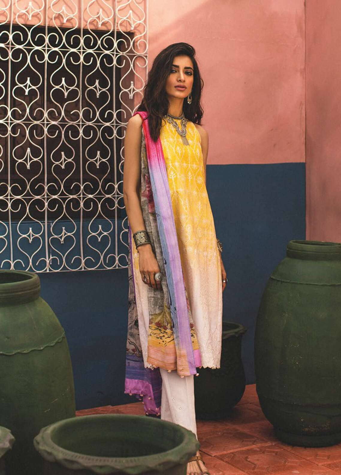 Zara Shahjahan Embroidered Lawn Unstitched 3 Piece Suit ZSJ19L GUL B - Spring / Summer Collection