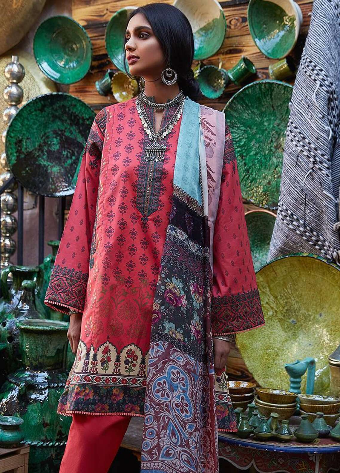 Zara Shahjahan Embroidered Lawn Unstitched 3 Piece Suit ZSJ19L KOEL A - Spring / Summer Collection