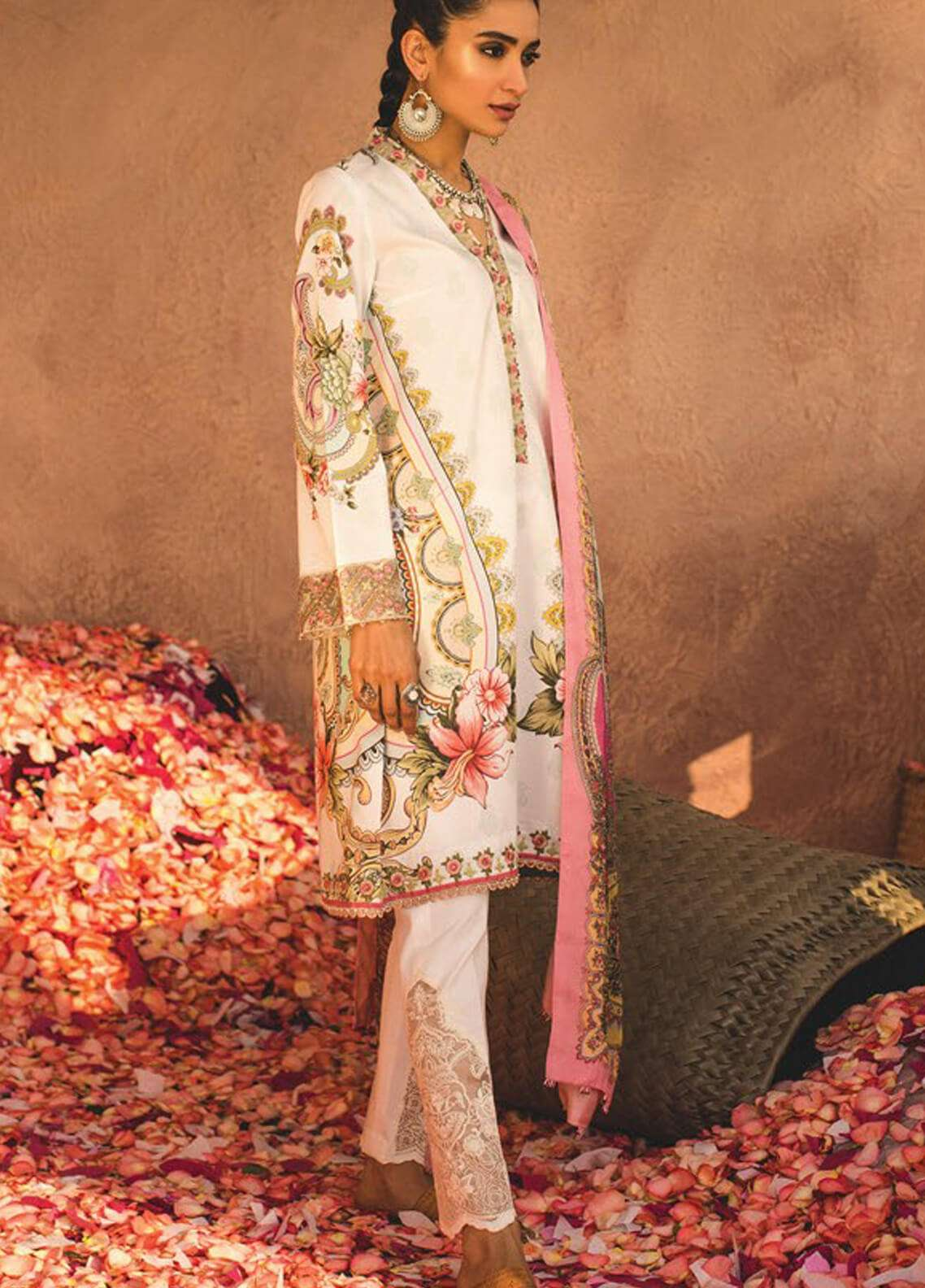 Zara Shahjahan Embroidered Lawn Unstitched 3 Piece Suit ZSJ19L LEHER B - Spring / Summer Collection