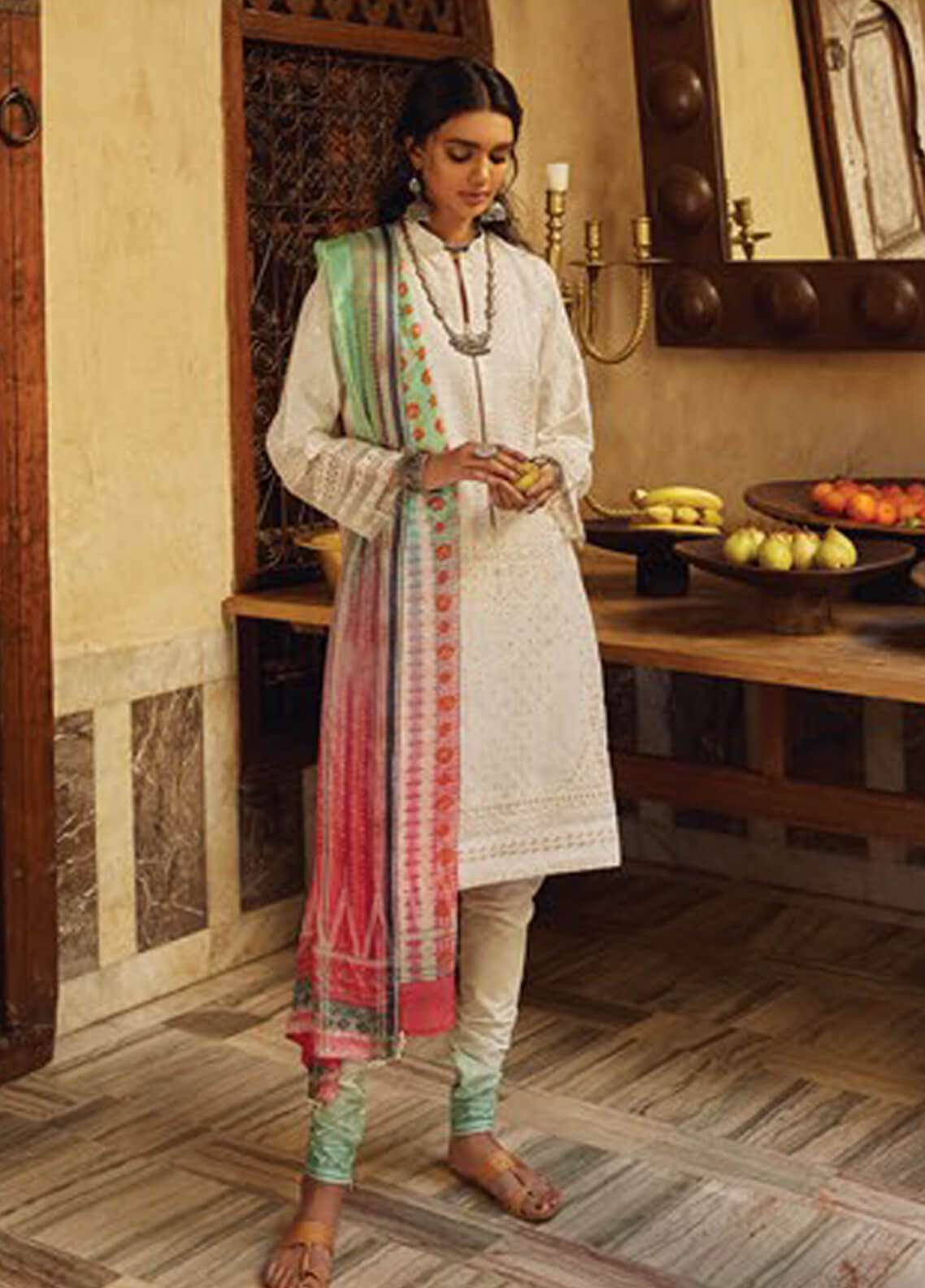 Zara Shahjahan Embroidered Lawn Unstitched 3 Piece Suit ZSJ19L LUCKNOW A - Spring / Summer Collection
