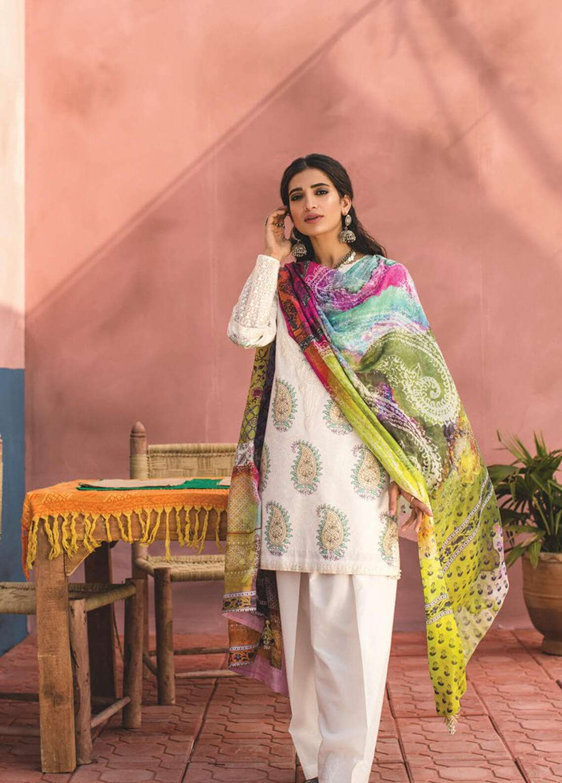 Zara Shahjahan Embroidered Lawn Unstitched 3 Piece Suit ZSJ19L MINAH B - Spring / Summer Collection