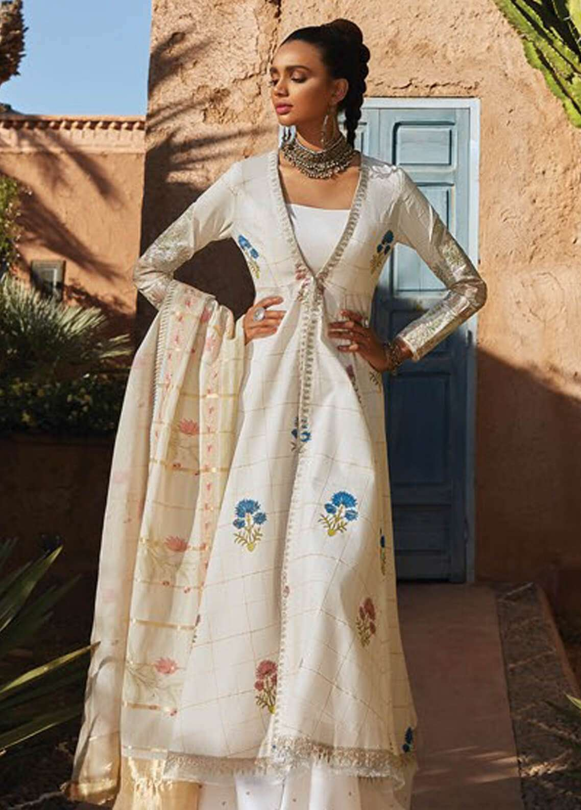 Zara Shahjahan Embroidered Jacquard Unstitched 3 Piece Suit ZSJ19L PARIZEH A - Spring / Summer Collection