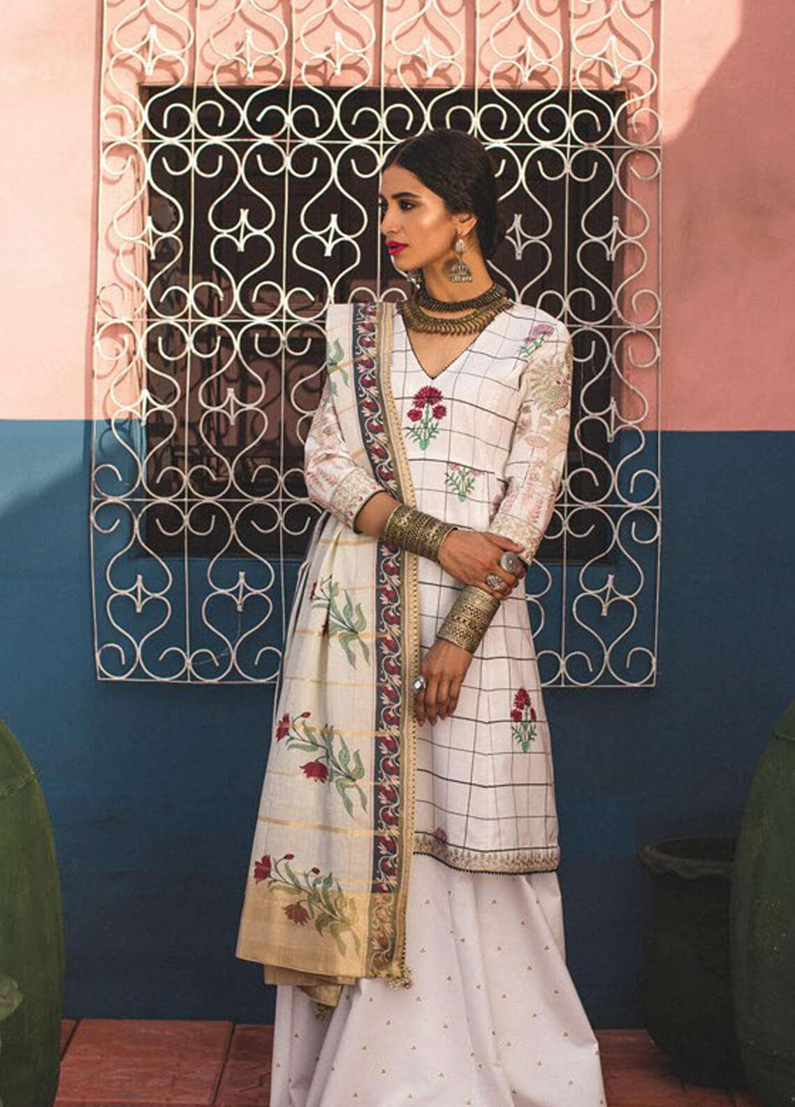 Zara Shahjahan Embroidered Jacquard Unstitched 3 Piece Suit ZSJ19L PARIZEH B - Spring / Summer Collection