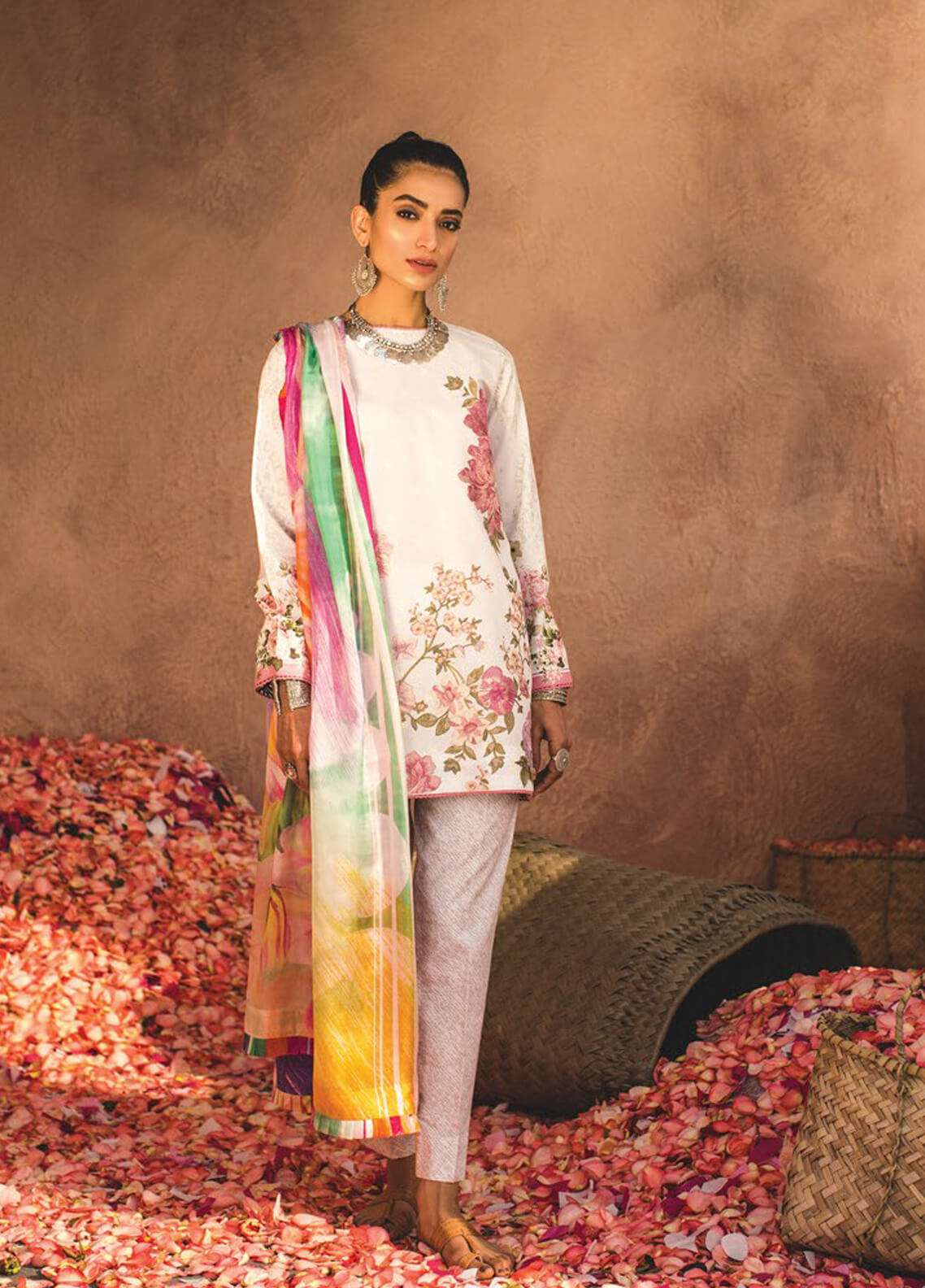 57265a3cd0 Zara Shahjahan Embroidered Lawn Unstitched 3 Piece Suit ZSJ19L SHAAM B -  Spring / Summer Collection