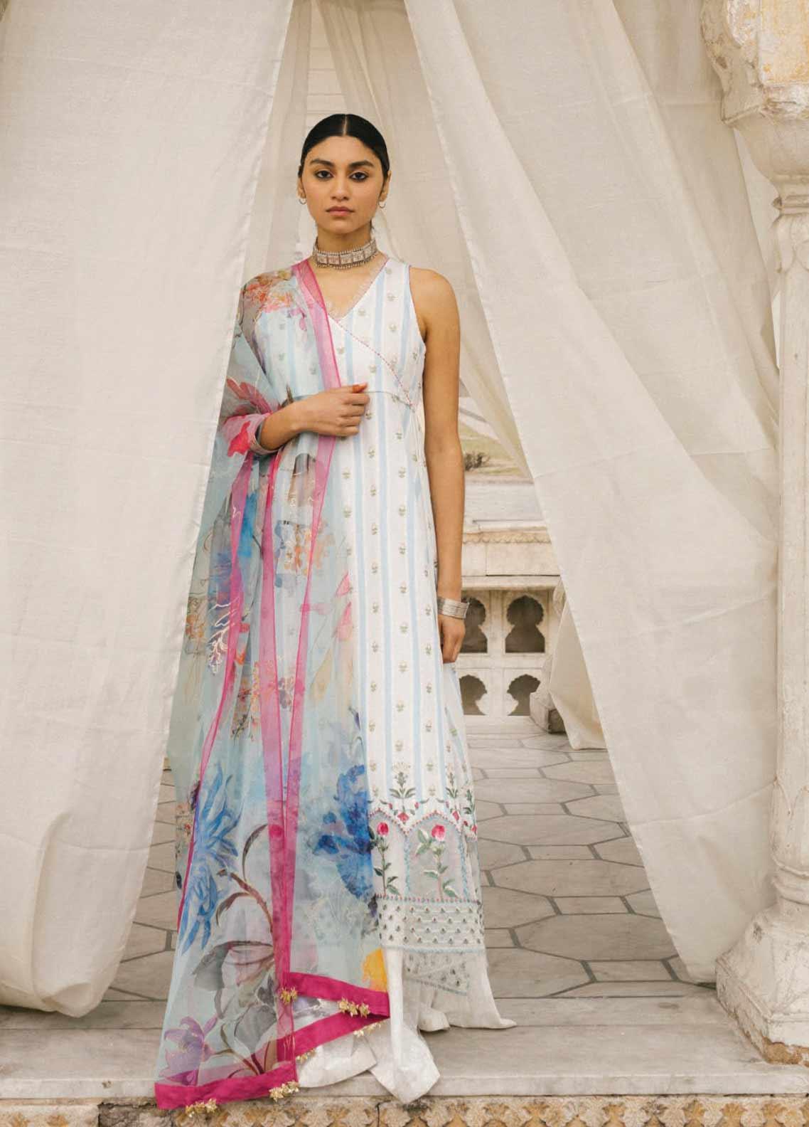 Zara Shahjahan Embroidered Lawn Unstitched 3 Piece Suit ZSJ20GL JEHANARA-B - Spring / Summer Collection