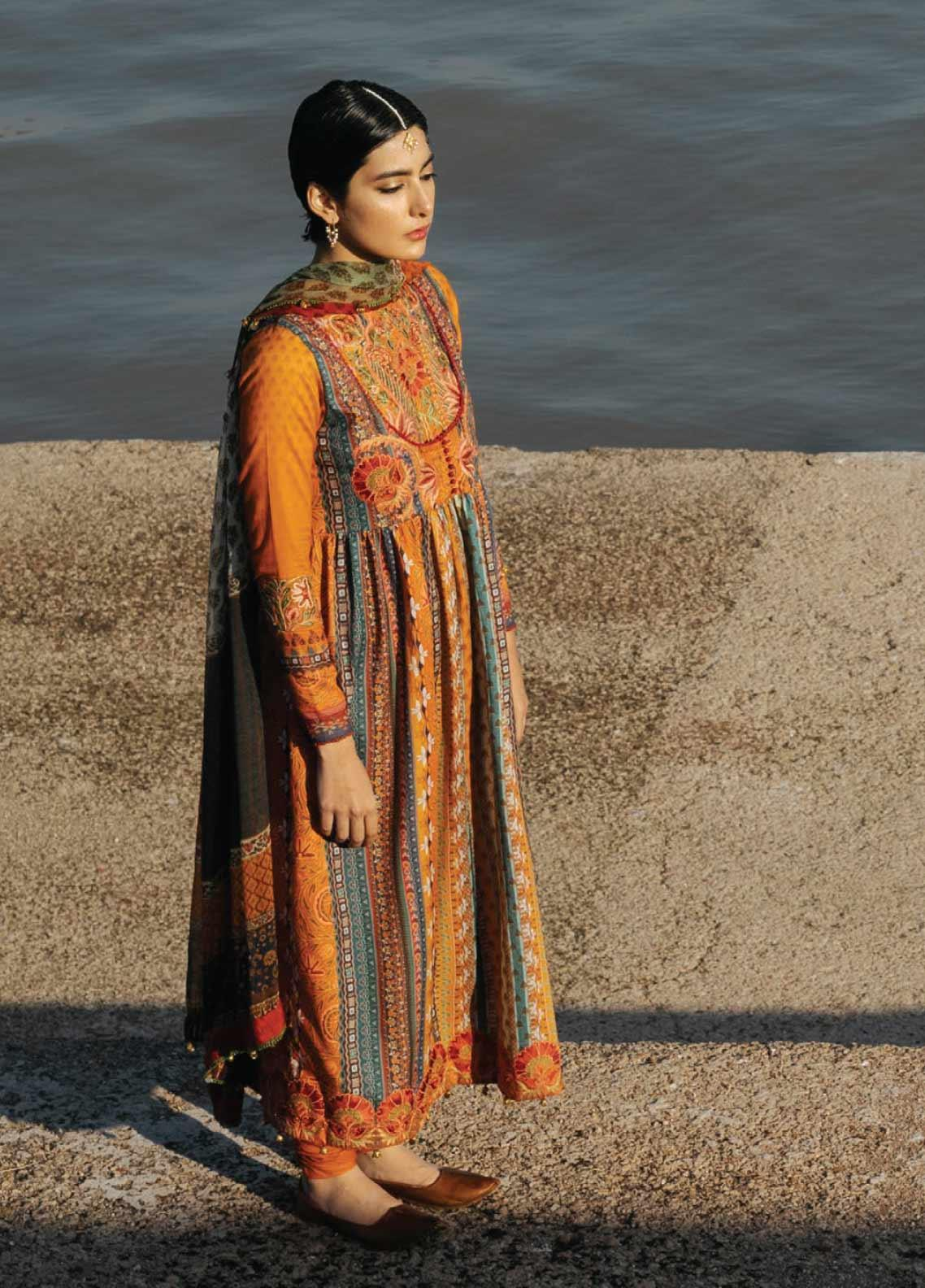 Zara Shahjahan Embroidered Lawn Unstitched 3 Piece Suit ZSJ20GL ROSHANARA-A - Spring / Summer Collection