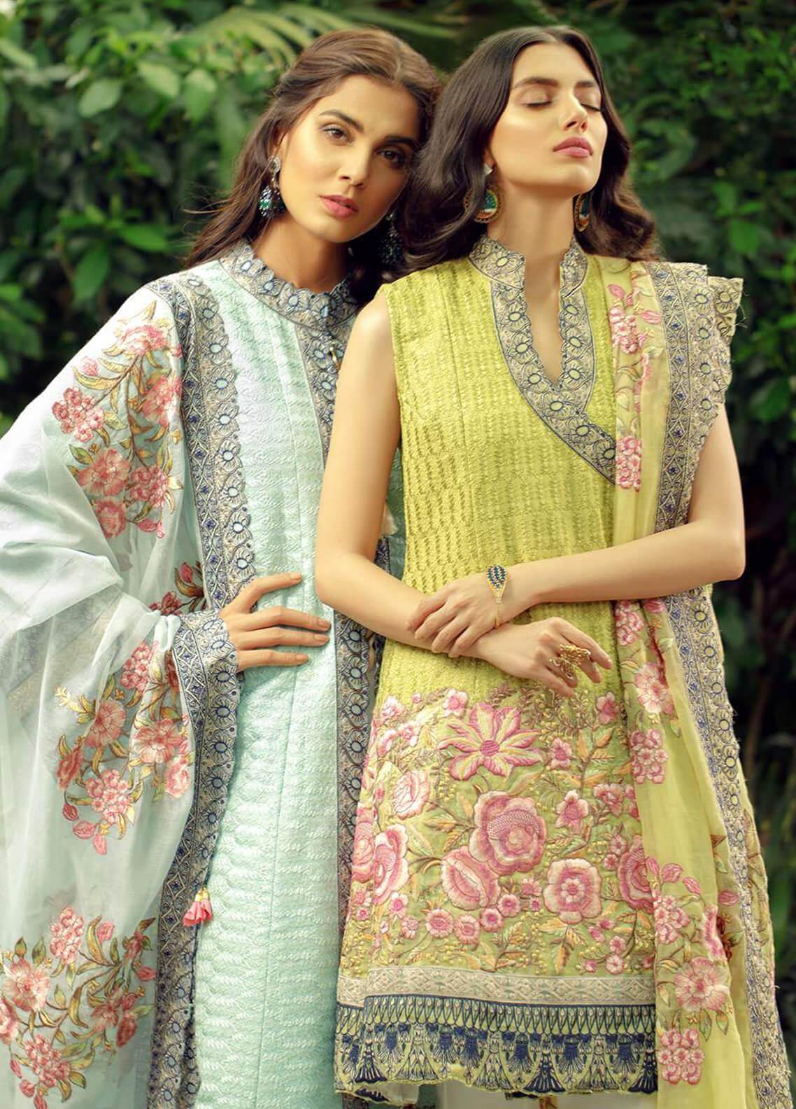 Zarqash Embroidered Jacquard Unstitched 3 Piece Suit ZRQ19L 3B - Festive Collection