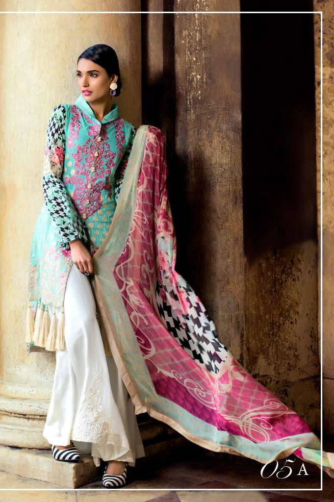 Zainab Chottani Embroidered Lawn Unstitched 3 Piece Suit ZC17L 5A