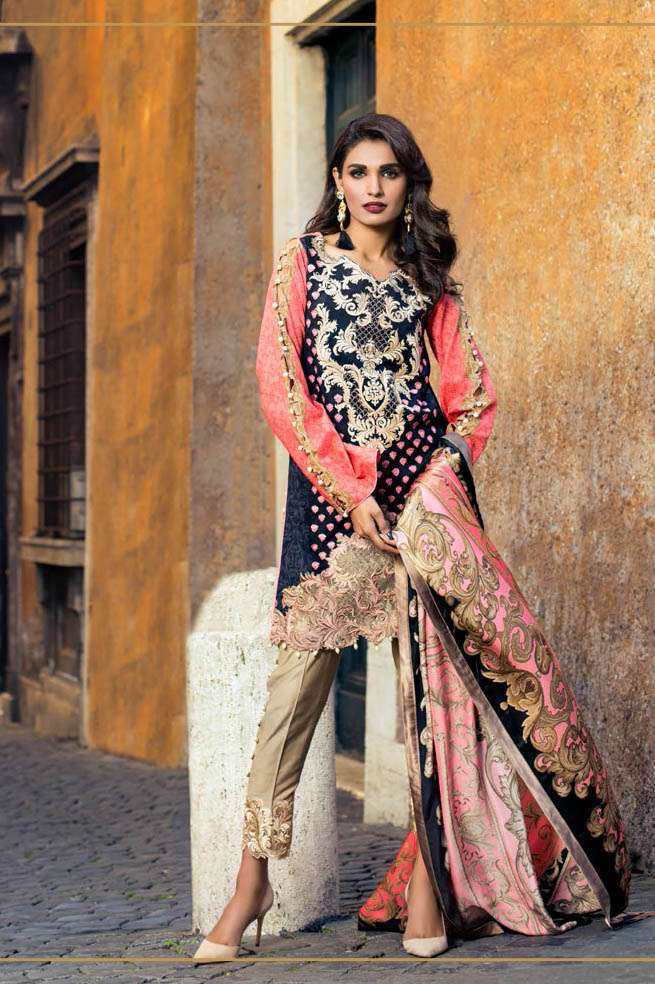 Zainab Chottani Embroidered Lawn Unstitched 3 Piece Suit ZC17L 7B