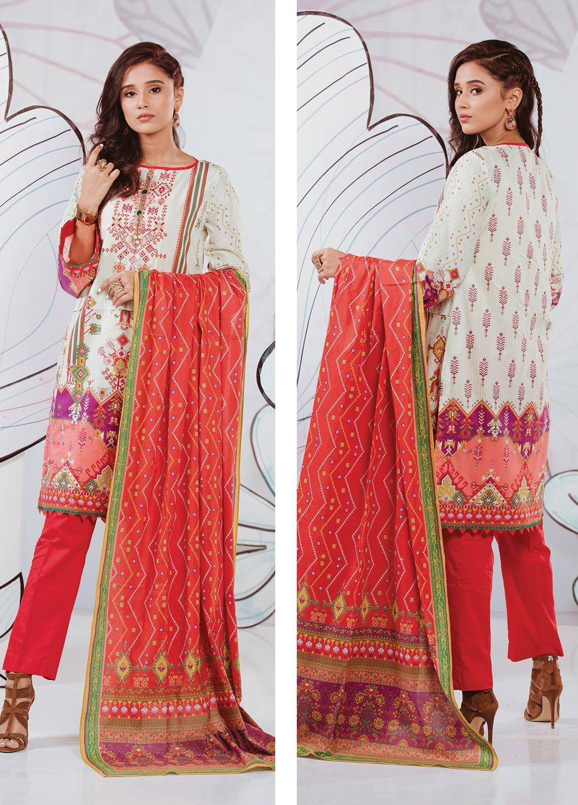 Zellbury Embroidered Lawn Unstitched 3 Piece Suit ZB20SL 112 - Spring / Summer Collection