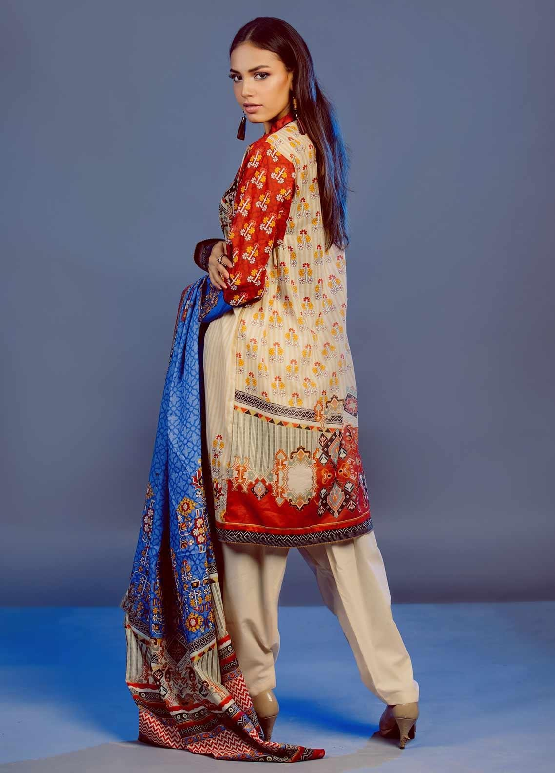 Zellbury Printed Lawn Unstitched 3 Piece Suit Zb20l Zw320222 Spring Summer Collection