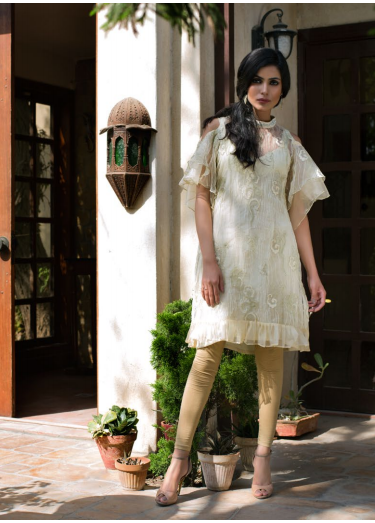 Veena Durrani Embroidered Cotton Net Unstitched Kurtis ZO17C 1A