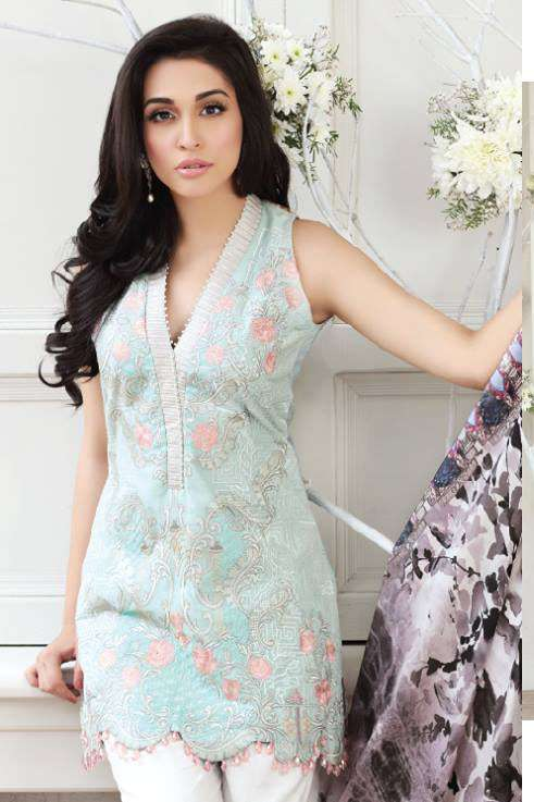 Zarqash Embroidered Lawn Unstitched 3 Piece Suit ZQ17L 6B