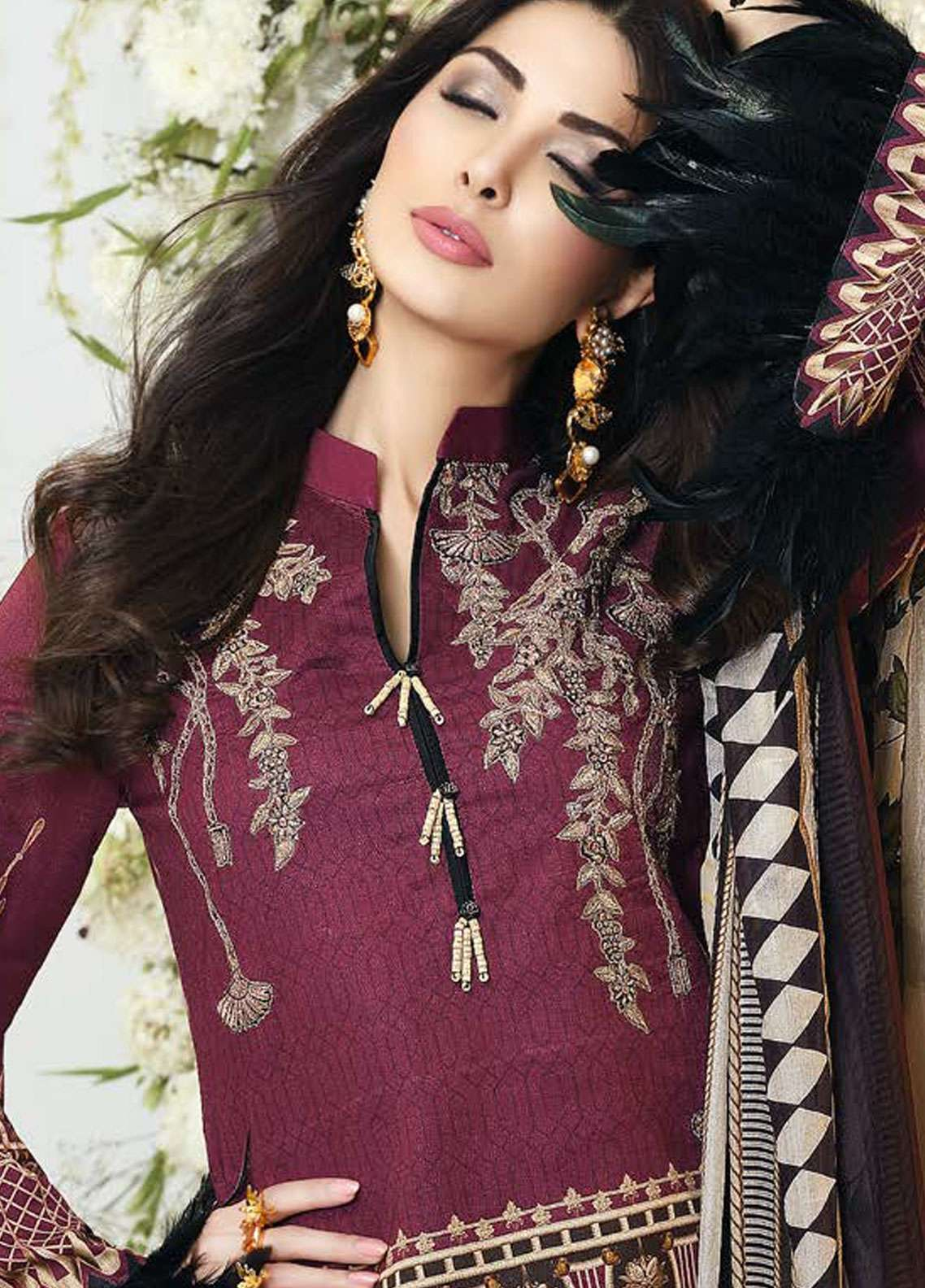 Zarqash Embroidered Lawn Unstitched 3 Piece Suit ZQ18L 9A - Spring / Summer Collection