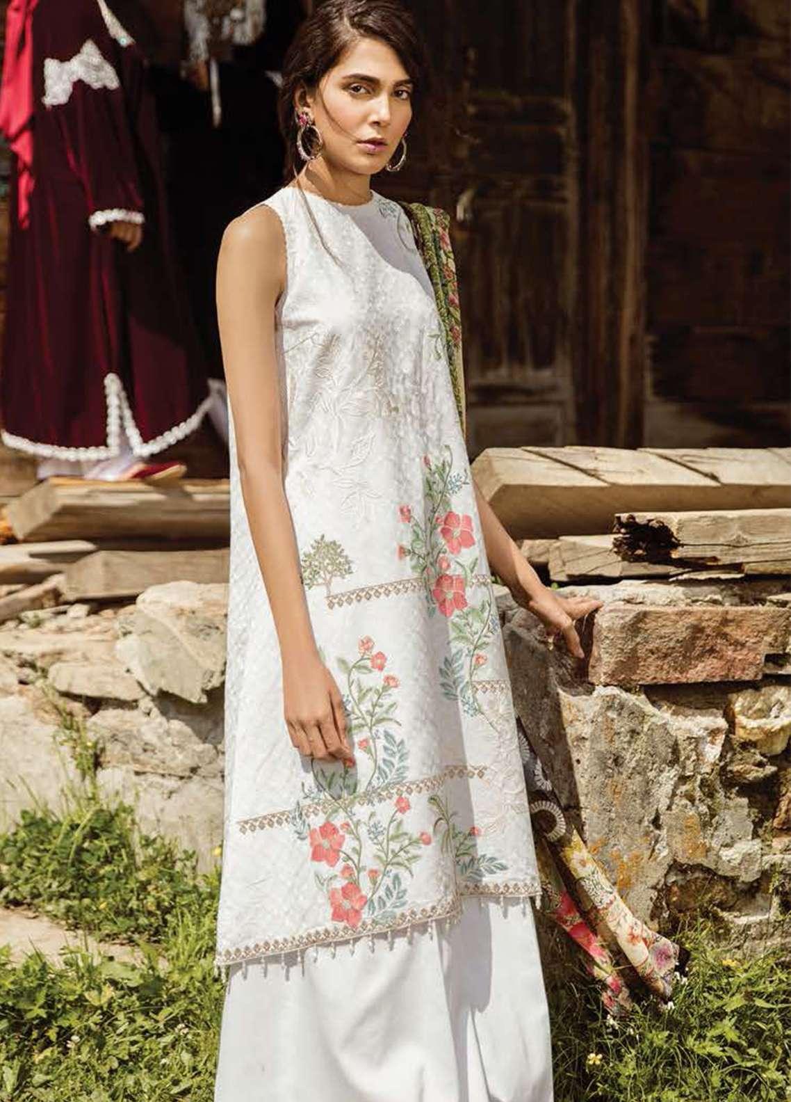 d283fdac12 Zara Shahjahan Embroidered Lawn Unstitched 3 Piece Suit ZSM18L 03 - Luxury  Collection