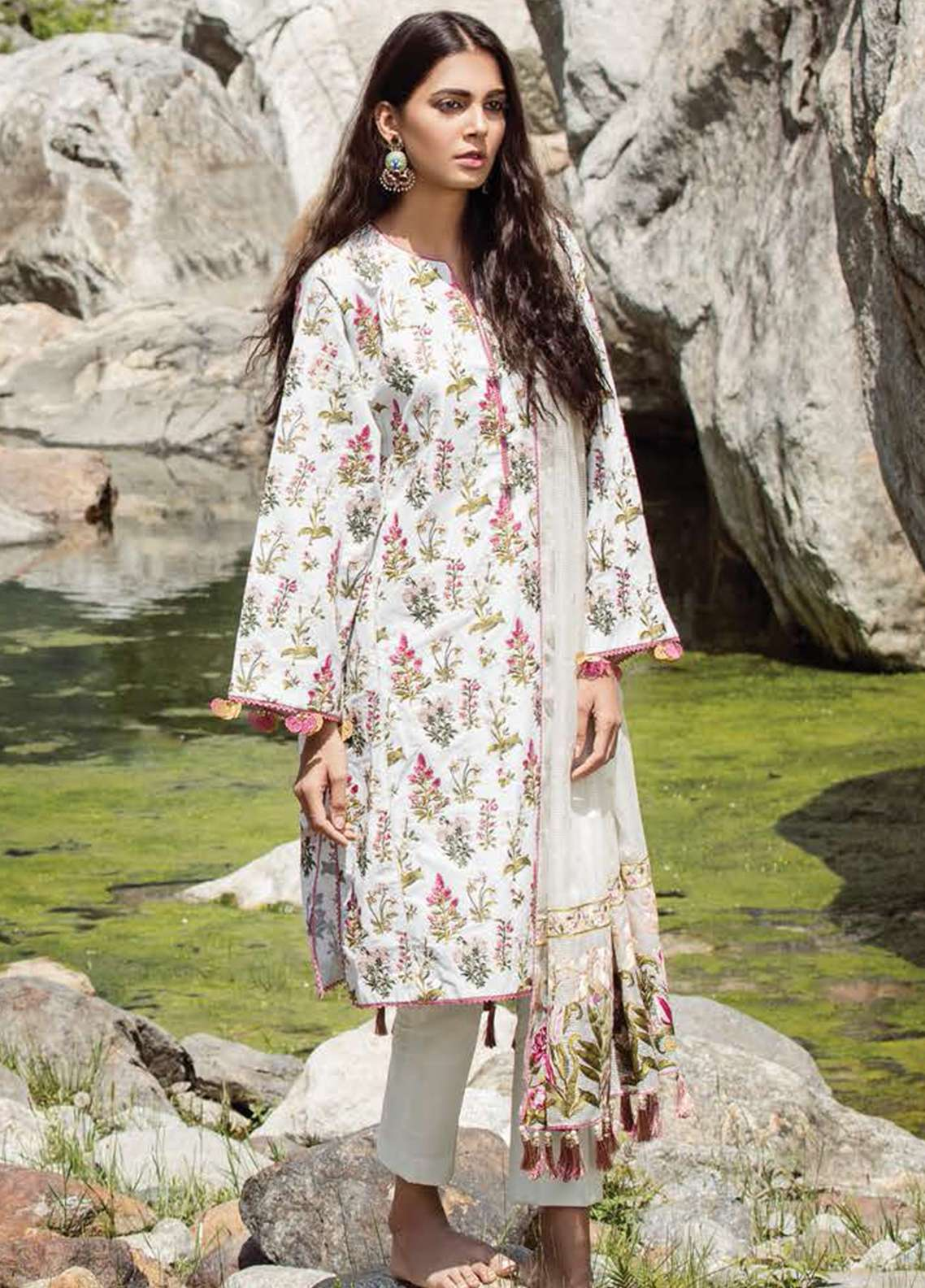 eabcb46cdf Zara Shahjahan Embroidered Lawn Unstitched 3 Piece Suit ZSM18L 10 - Luxury  Collection