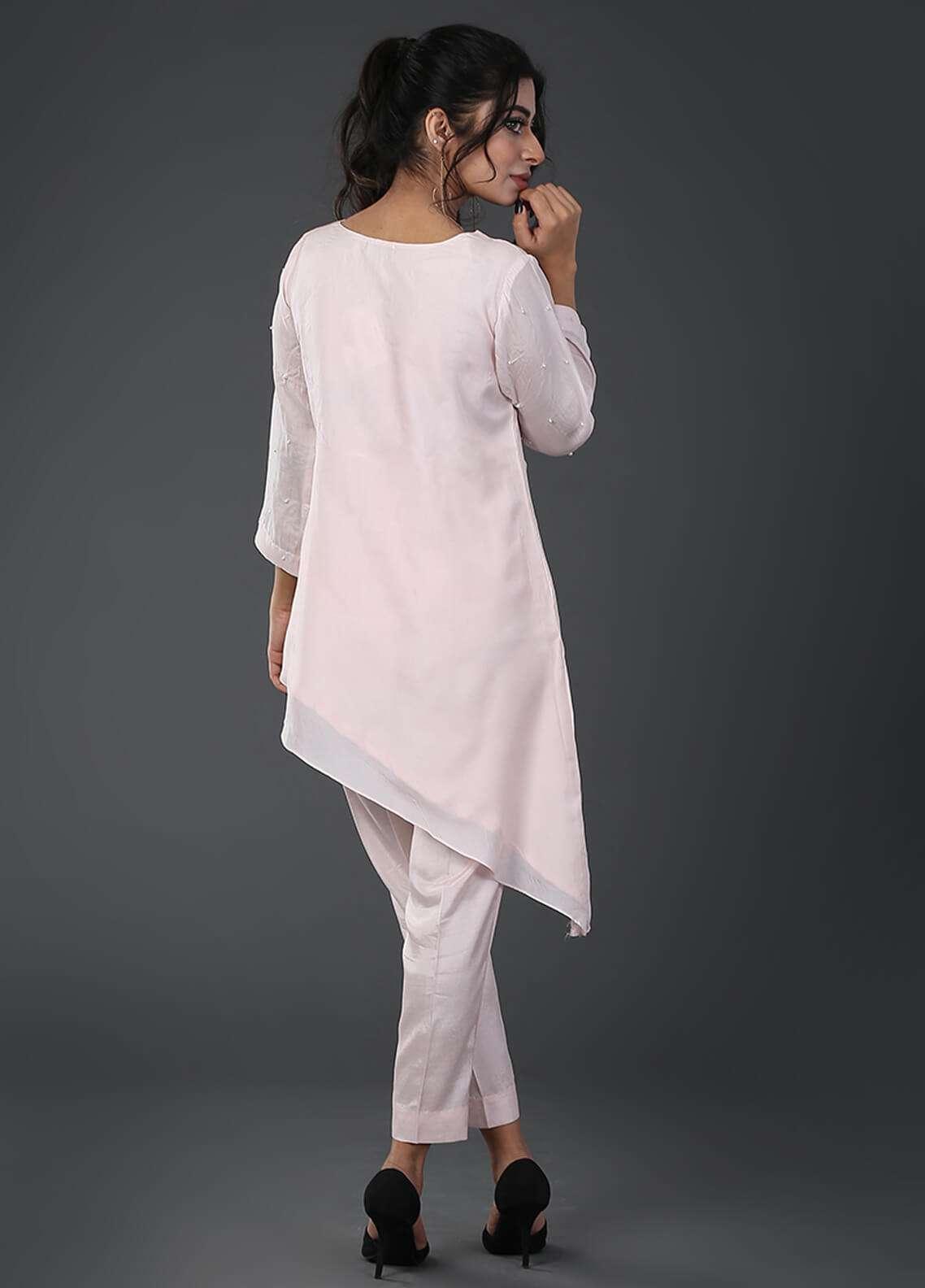 Zujaaj Embroidered  Stitched 2 Piece Suit ZJ-10 Powder Pink
