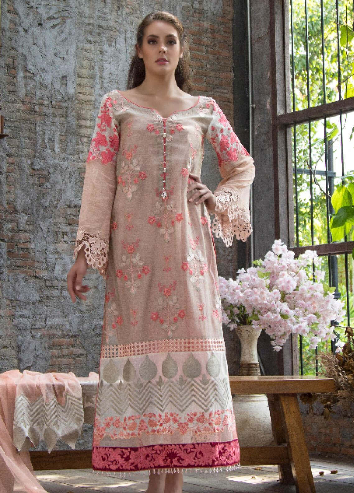 ZUNUJ Embroidered Missouri Unstitched 3 Piece Suit ZJ19F 04 - Festive Collection