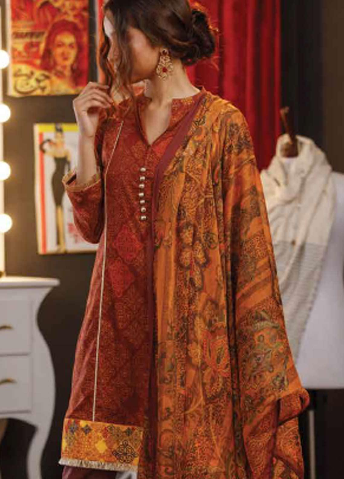 Zyra by Tarzz Embroidered Lawn Unstitched 3 Piece Suit ZYT19S 12A PASSION FIX - Mid Summer Collection