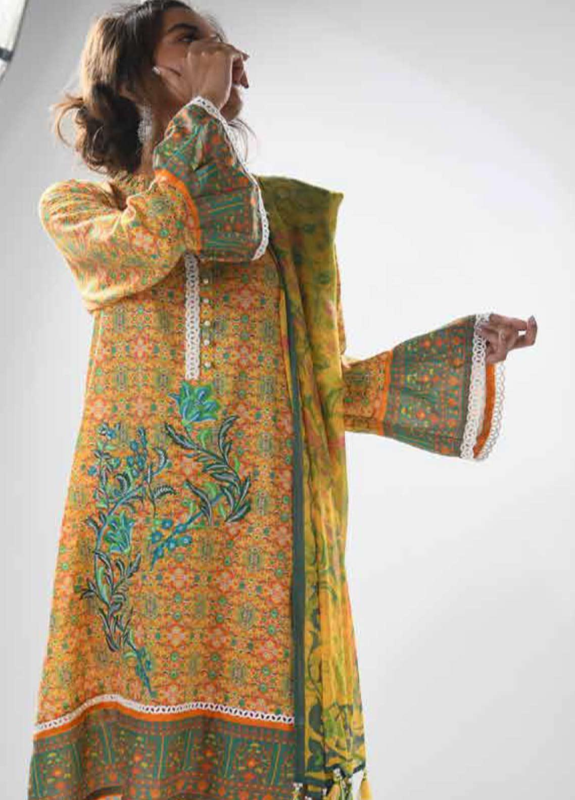 Zyra by Tarzz Printed Lawn Unstitched 3 Piece Suit ZYT19S 11A PARAKEET - Mid Summer Collection