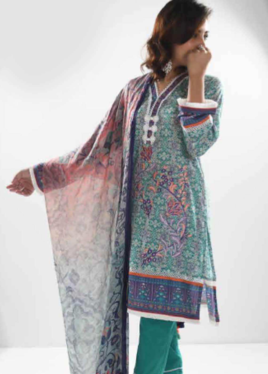 Zyra by Tarzz Printed Lawn Unstitched 3 Piece Suit ZYT19S 11B WHIMSY - Mid Summer Collection