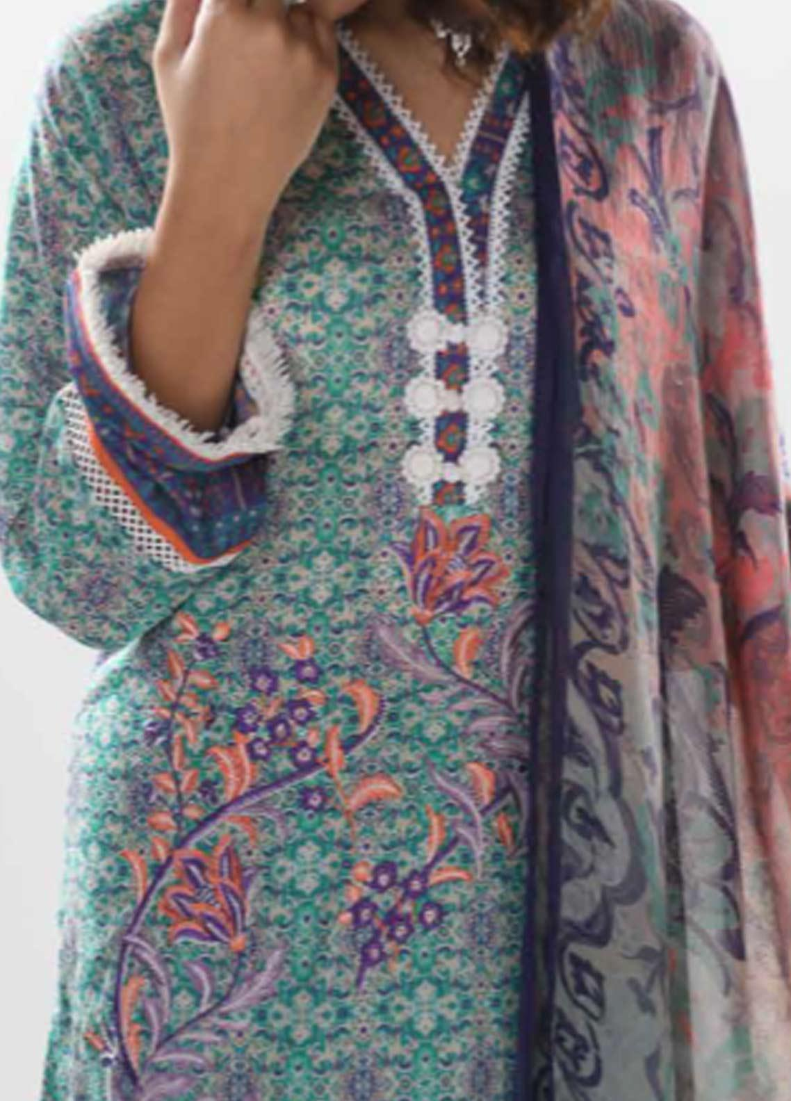 afbe179cf1 Zyra by Tarzz Printed Lawn Unstitched 3 Piece Suit ZYT19S 11B WHIMSY - Mid  Summer Collection
