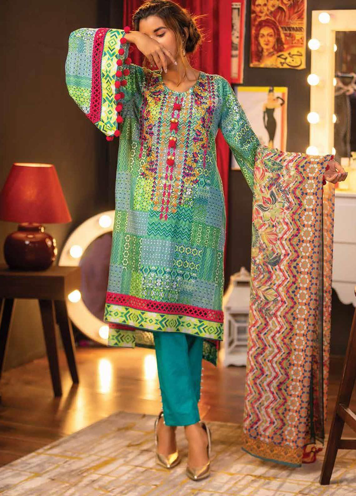 5247282836 Zyra by Tarzz Printed Lawn Unstitched 3 Piece Suit ZYT19S 9B OASIS - Mid  Summer Collection