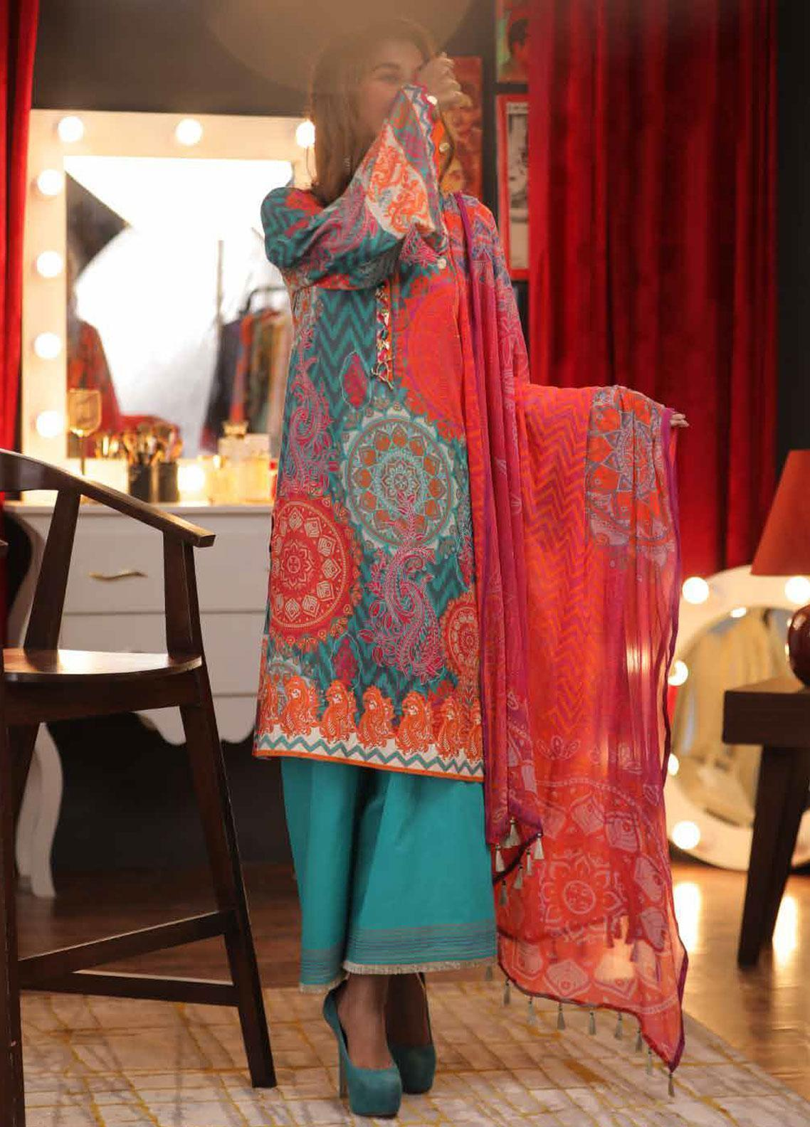 Zyra by Tarzz Embroidered Lawn Unstitched 3 Piece Suit ZYT19S 10A CANARY - Mid Summer Collection