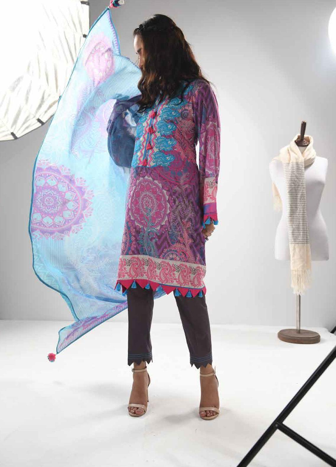 b271b0af43 Zyra by Tarzz Embroidered Lawn Unstitched 3 Piece Suit ZYT19S 10B LAVENDER  FROST - Mid Summer Collection