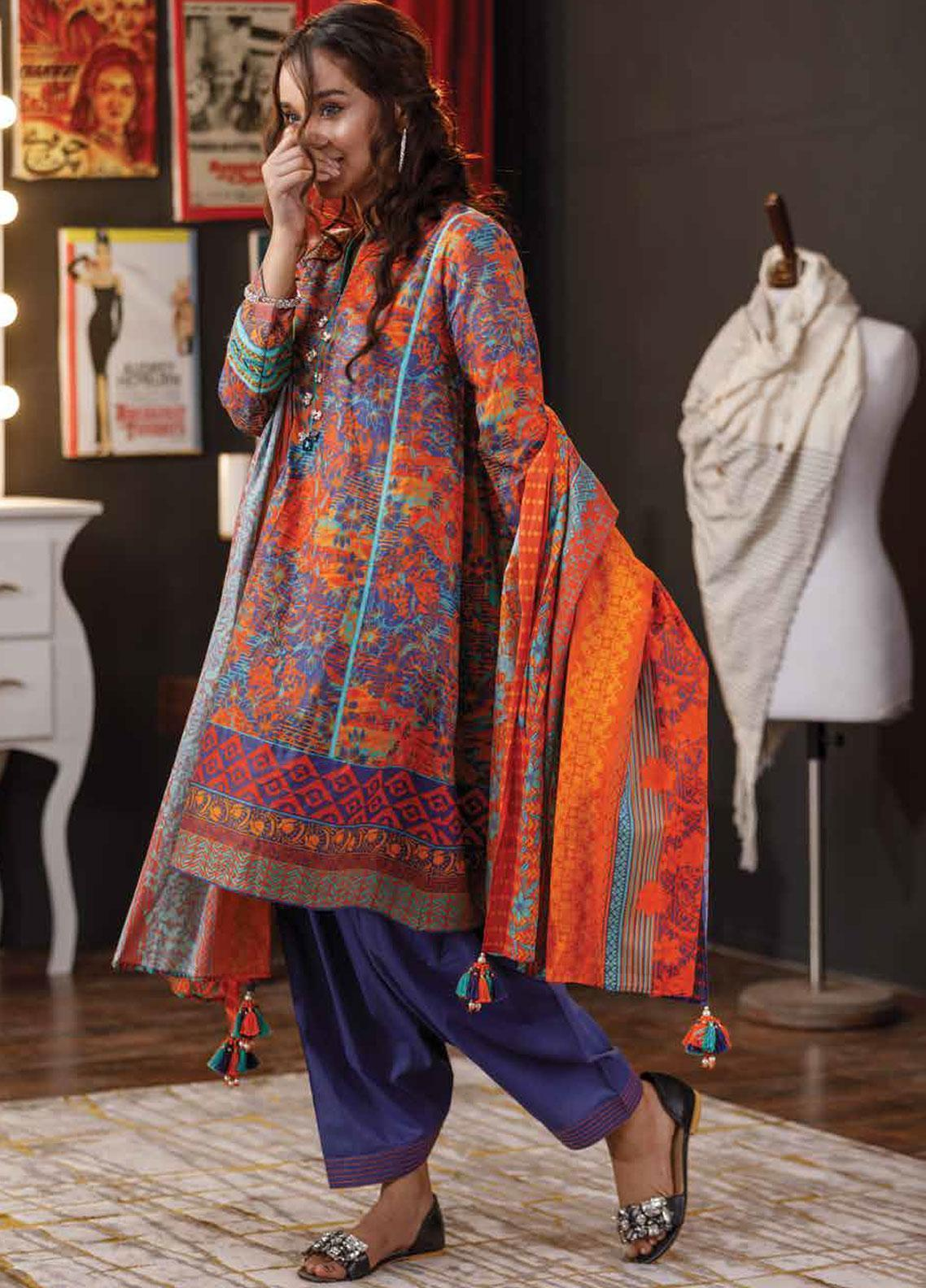 Zyra by Tarzz Embroidered Lawn Unstitched 3 Piece Suit ZYT19S 13A SPRIGHTLY - Mid Summer Collection