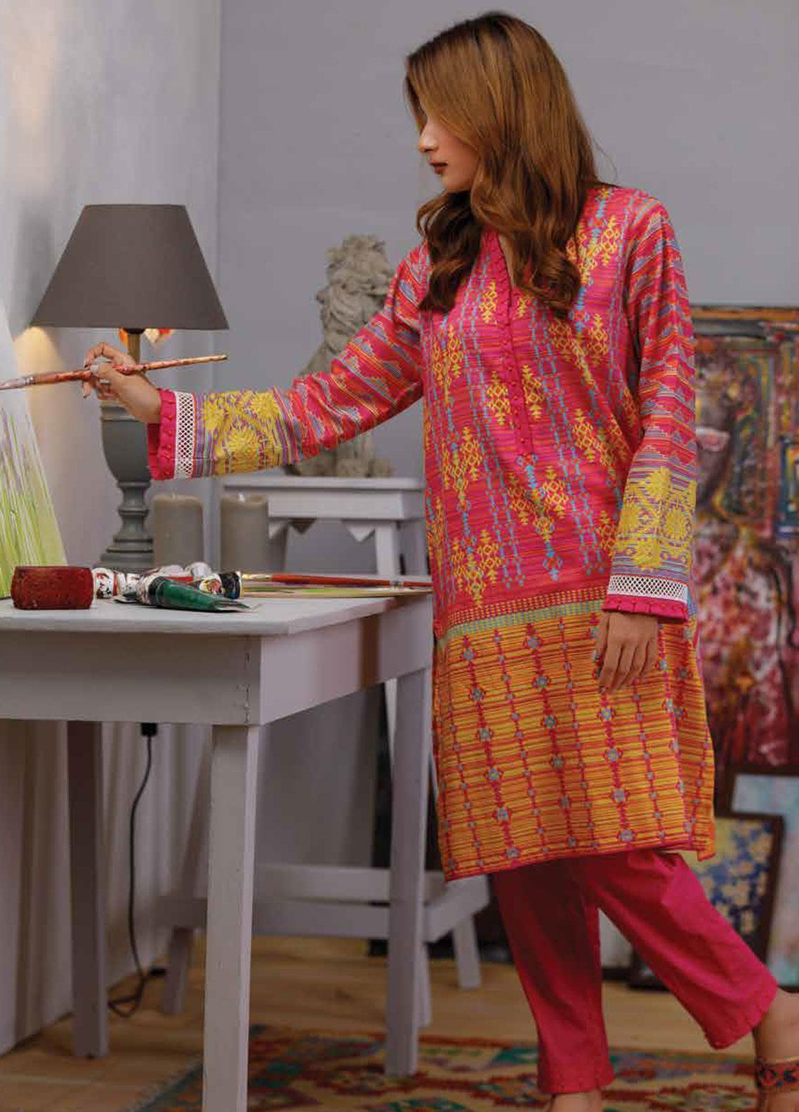 9b7bb0bbd7 Zyra by Tarzz Printed Lawn Unstitched Kurties ZYT19S 14 COLOUR POP - Mid  Summer Collection