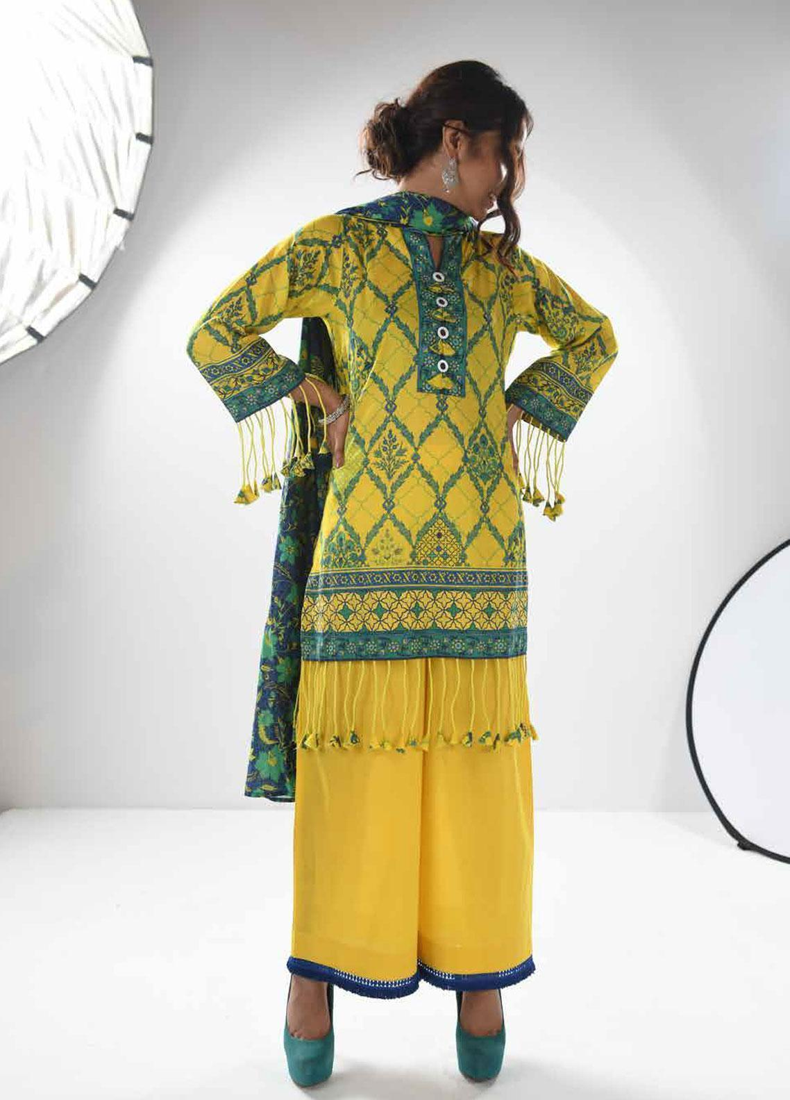 Zyra by Tarzz Embroidered Lawn Unstitched 3 Piece Suit ZYT19S 15B CITRUS YOUNG - Mid Summer Collection