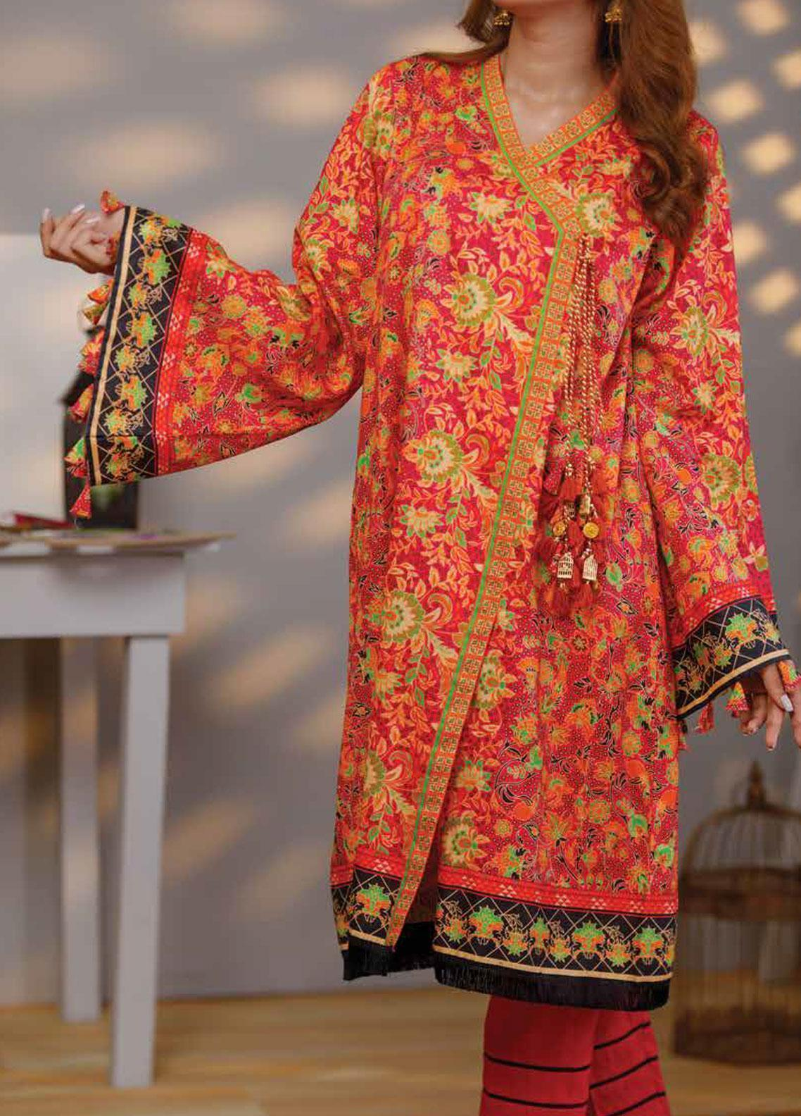 1b6eb50414 Zyra by Tarzz Printed Lawn Unstitched Kurties ZYT19S 1A SWEET ESCAPE - Mid  Summer Collection