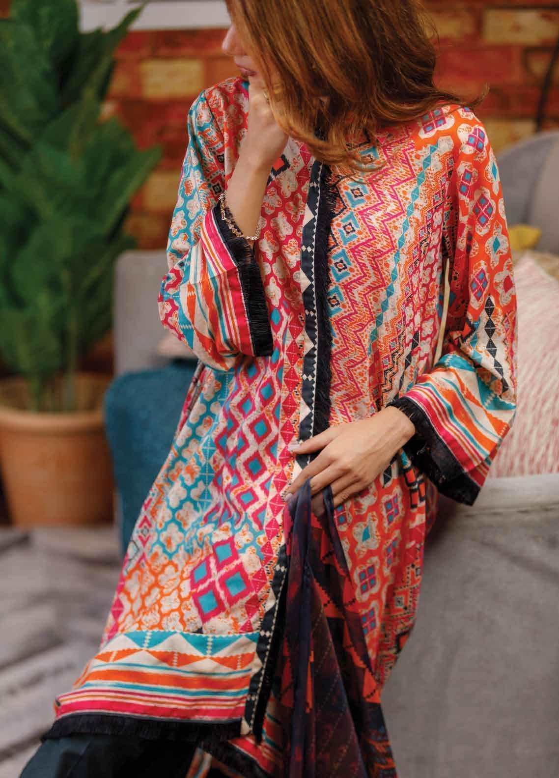 1176a2c482 Zyra by Tarzz Printed Lawn Unstitched 2 Piece Suit ZYT19S 1B ETHNIC FLOW - Mid  Summer Collection